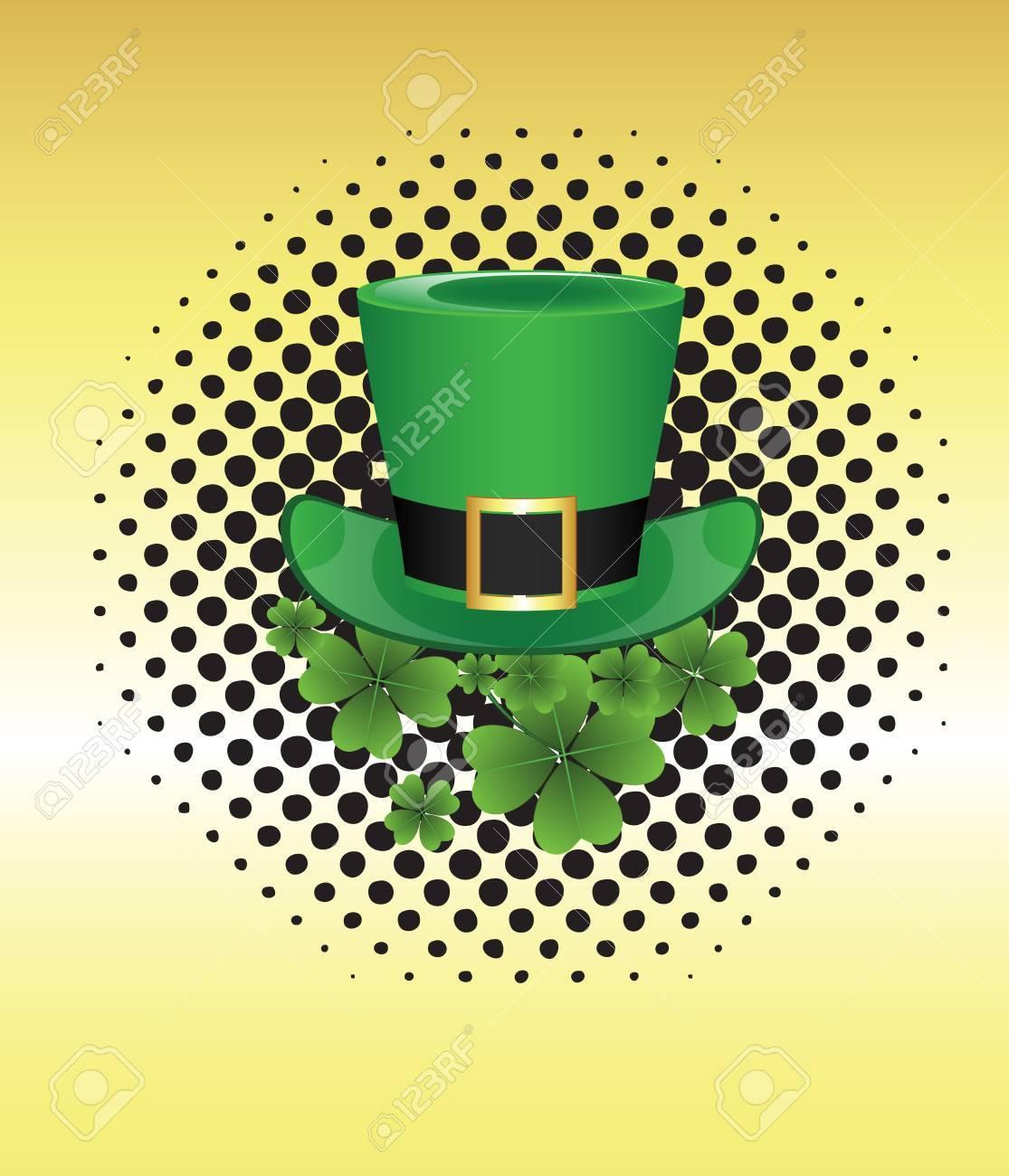Leprechaun Hat on Halftone Banner Stock Vector - 12654996