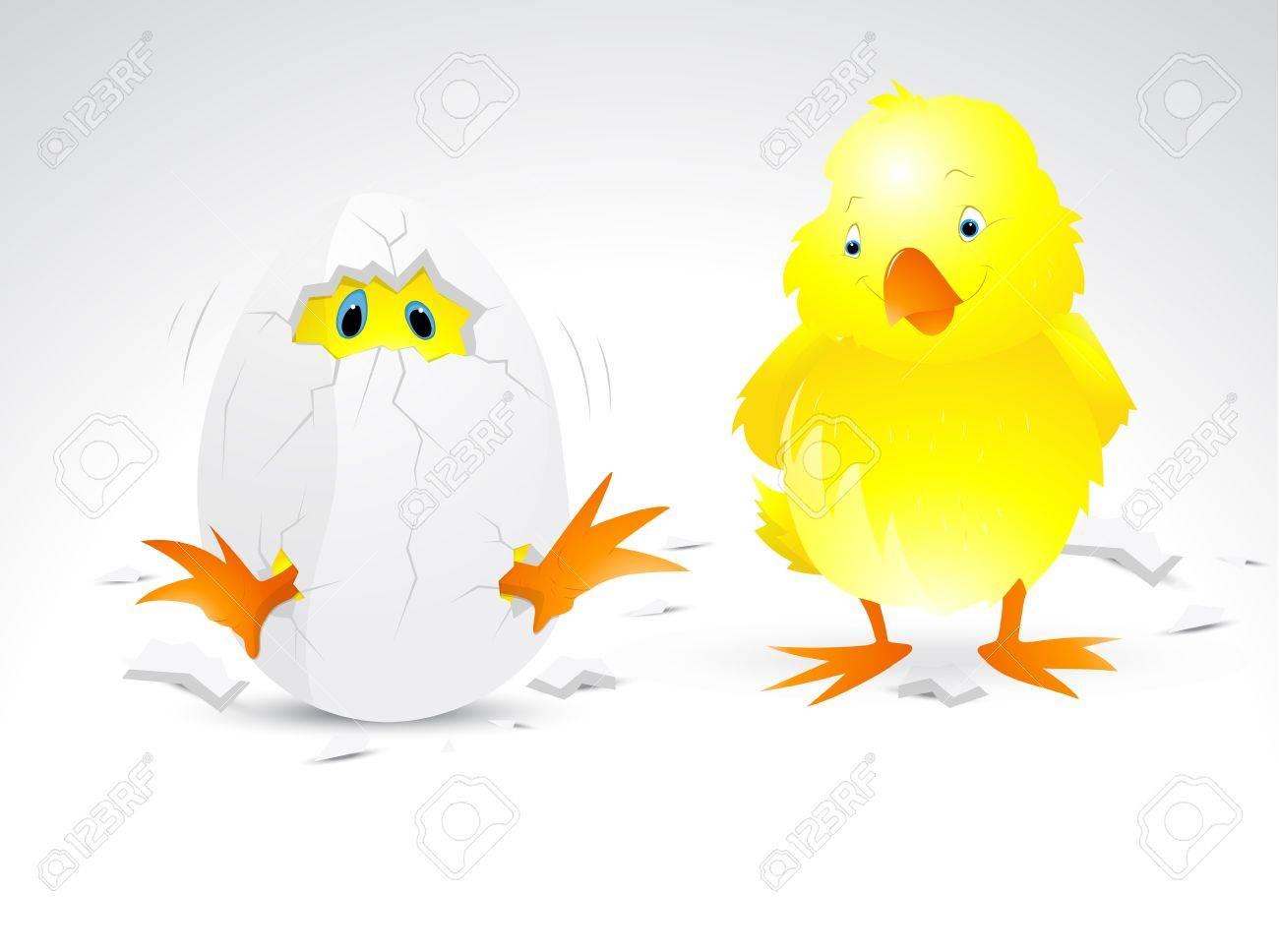Vector Cartoon Chicken Stock Vector - 12771751