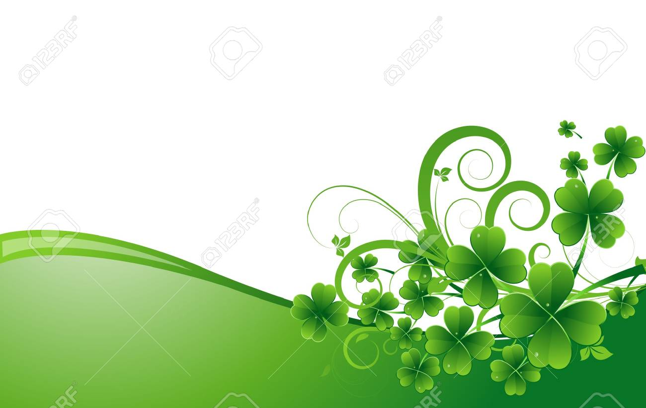 Clover Leaves Holiday Background Stock Vector - 12857310