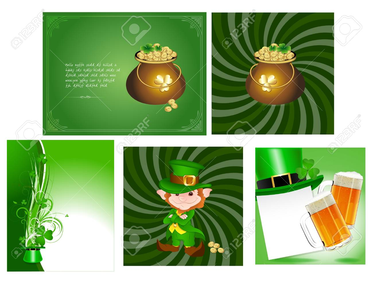 Patrick s day Cards Vectors Stock Vector - 12861227
