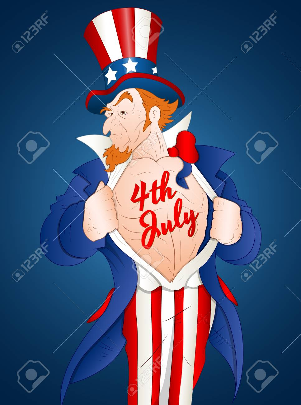 Muscular Uncle Sam Stock Vector - 12859063