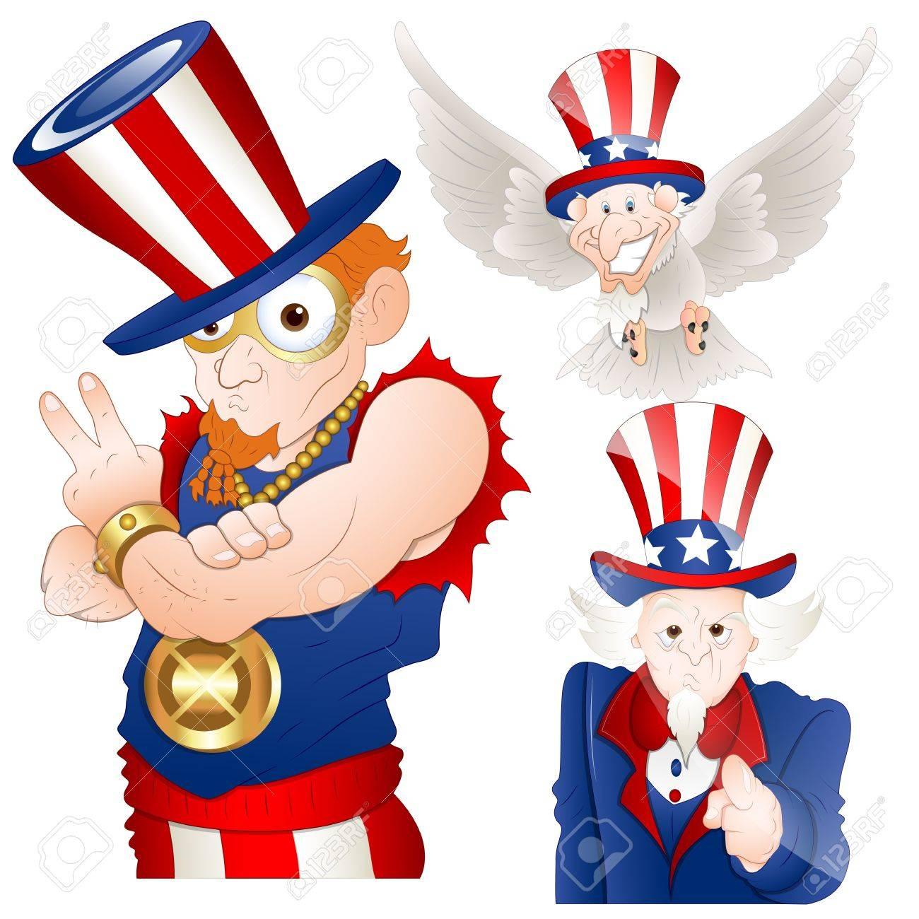 Uncle Sam Vector Illustration Stock Vector - 12861139