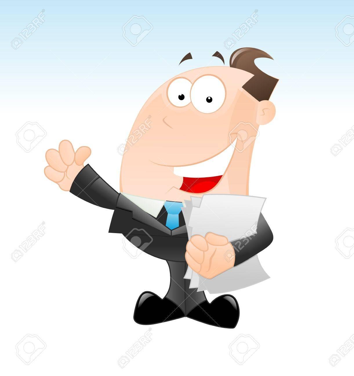 Happy Businessman Vector Stock Vector - 12933542