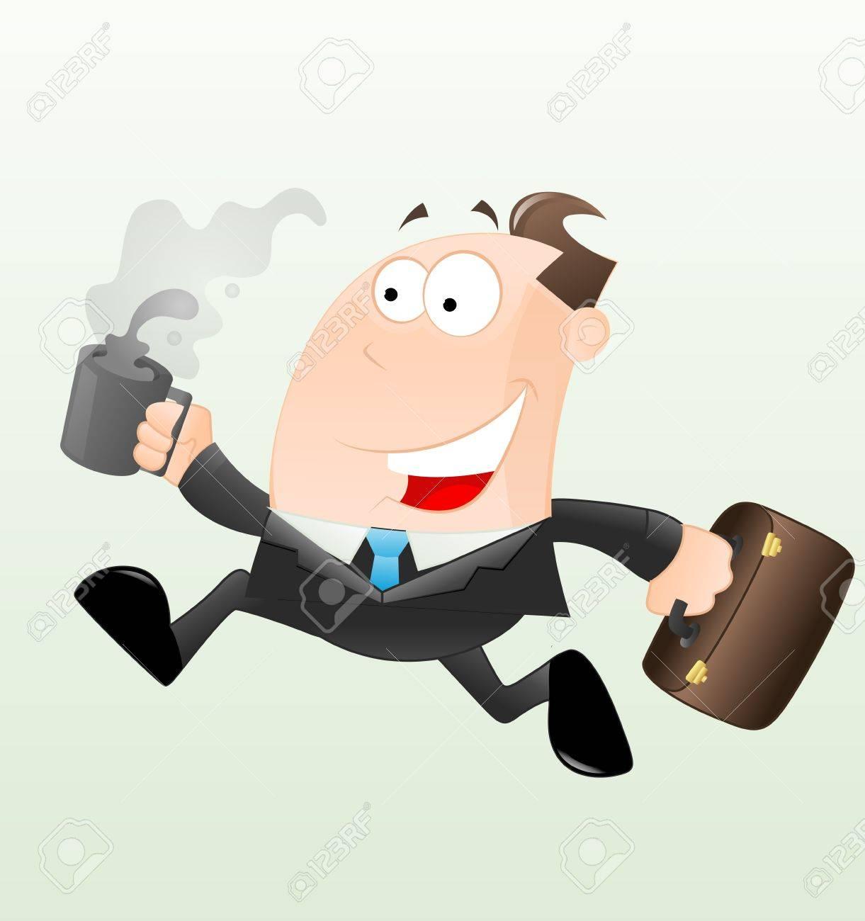 Running Businessman Vector - 12933557