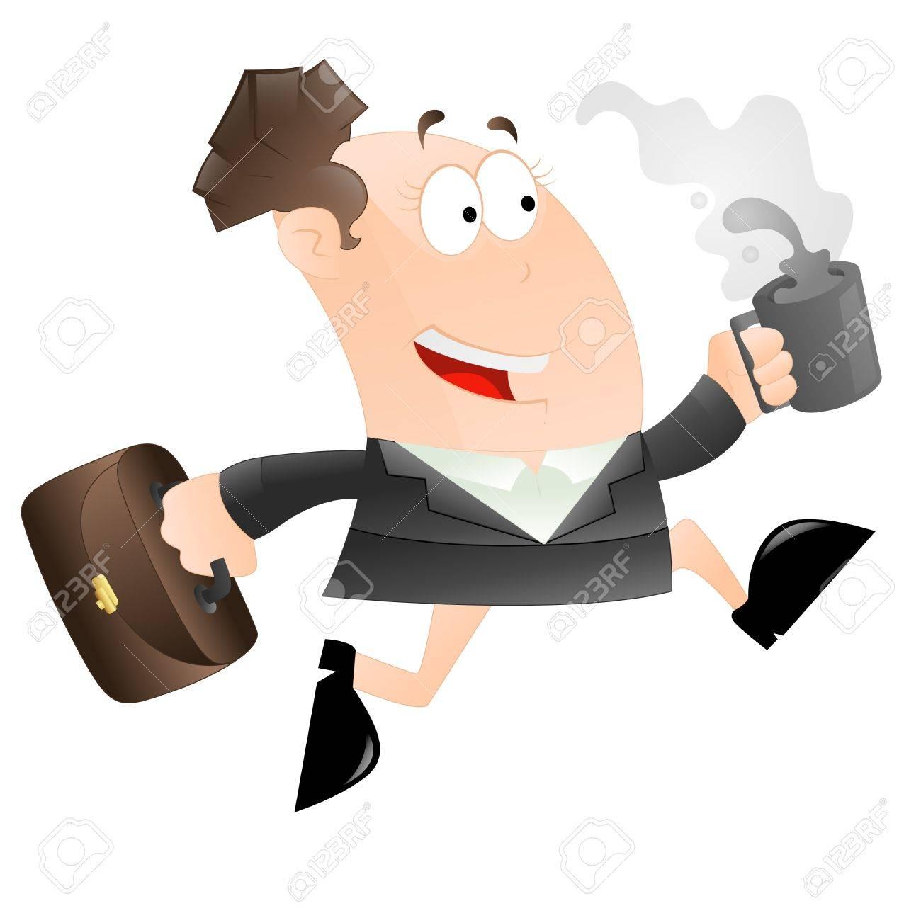 Running Business Woman Stock Vector - 12933563