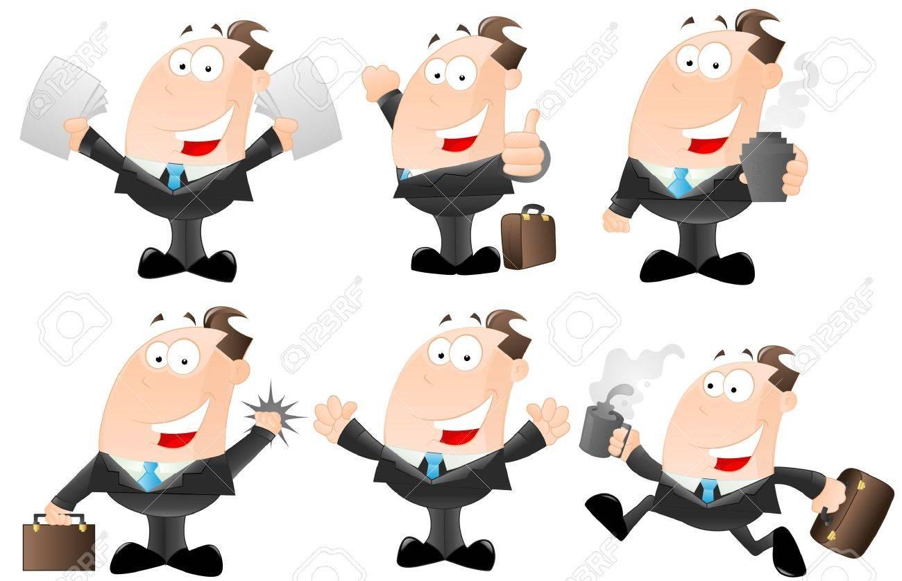 Set of Cartoon Businessmen Stock Vector - 12933565