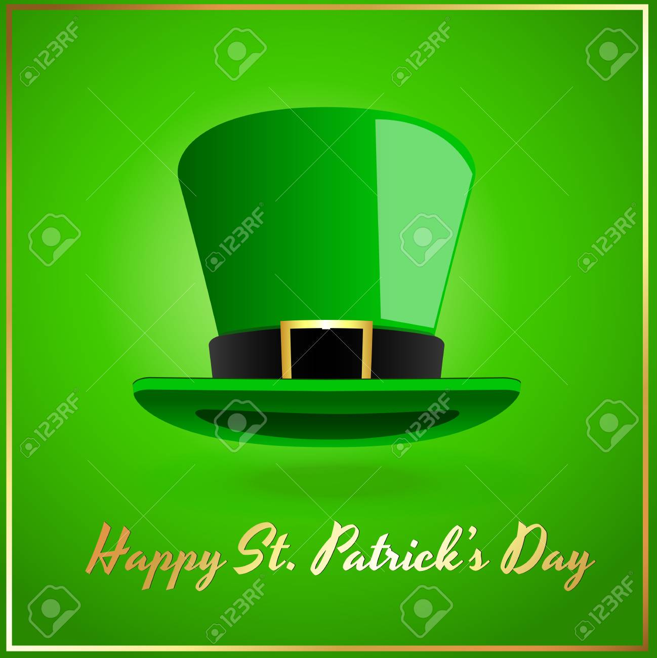 Green Leprechaun Hat Stock Vector - 13094321