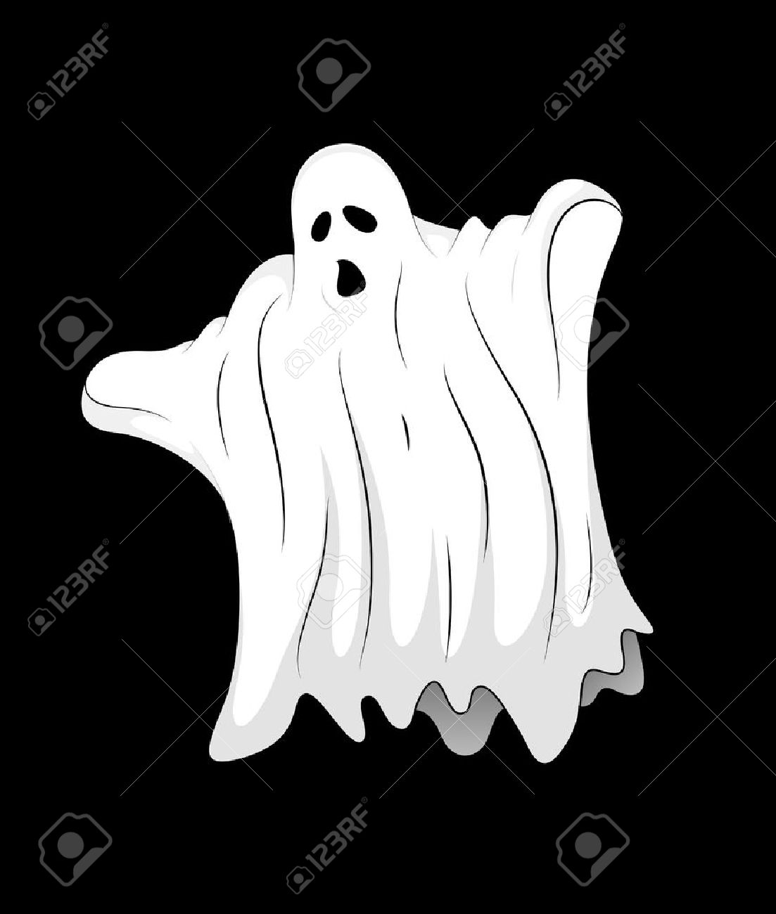 Scary Ghost Stock Vector - 13249642