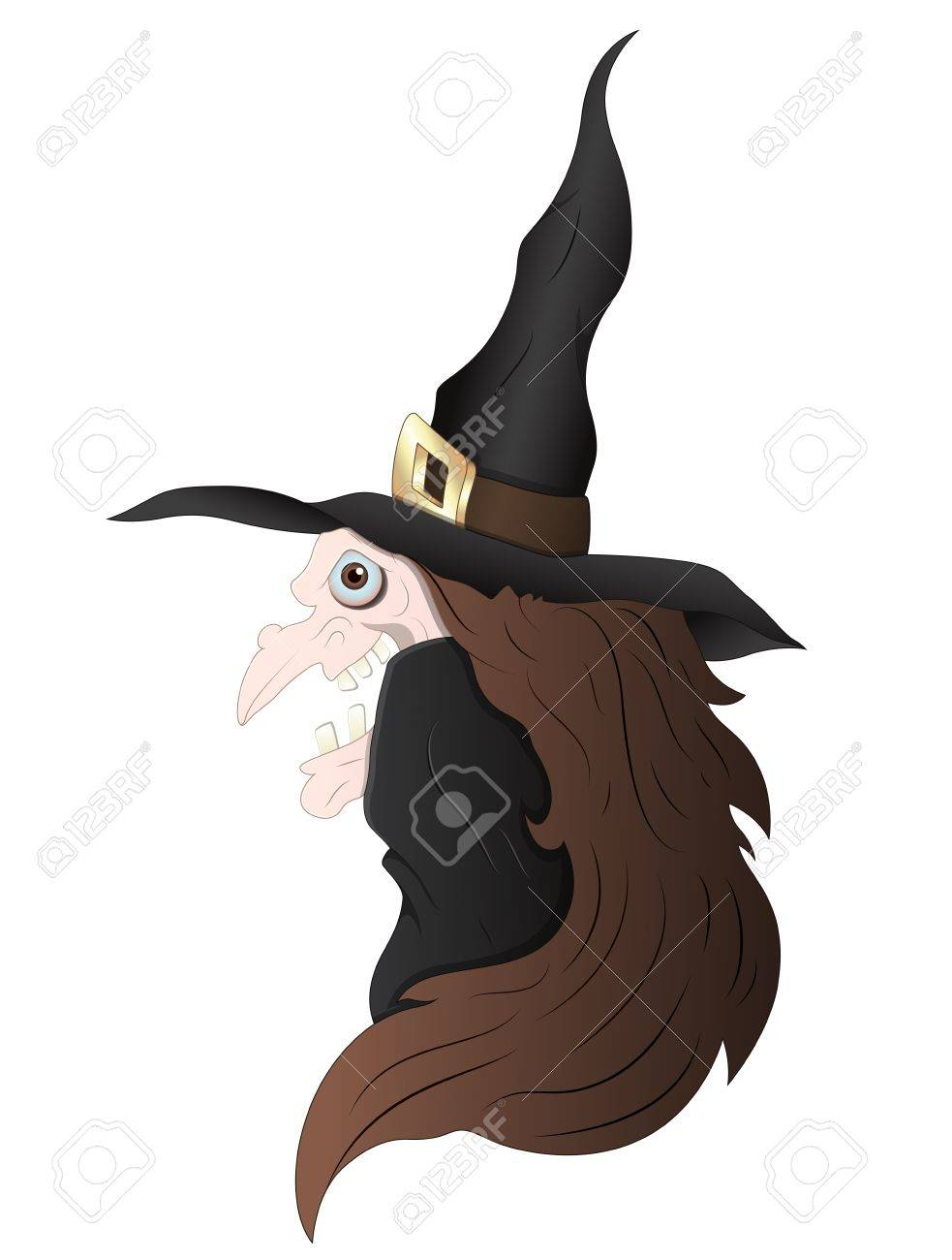 Spooky Witch Stock Vector - 13276846