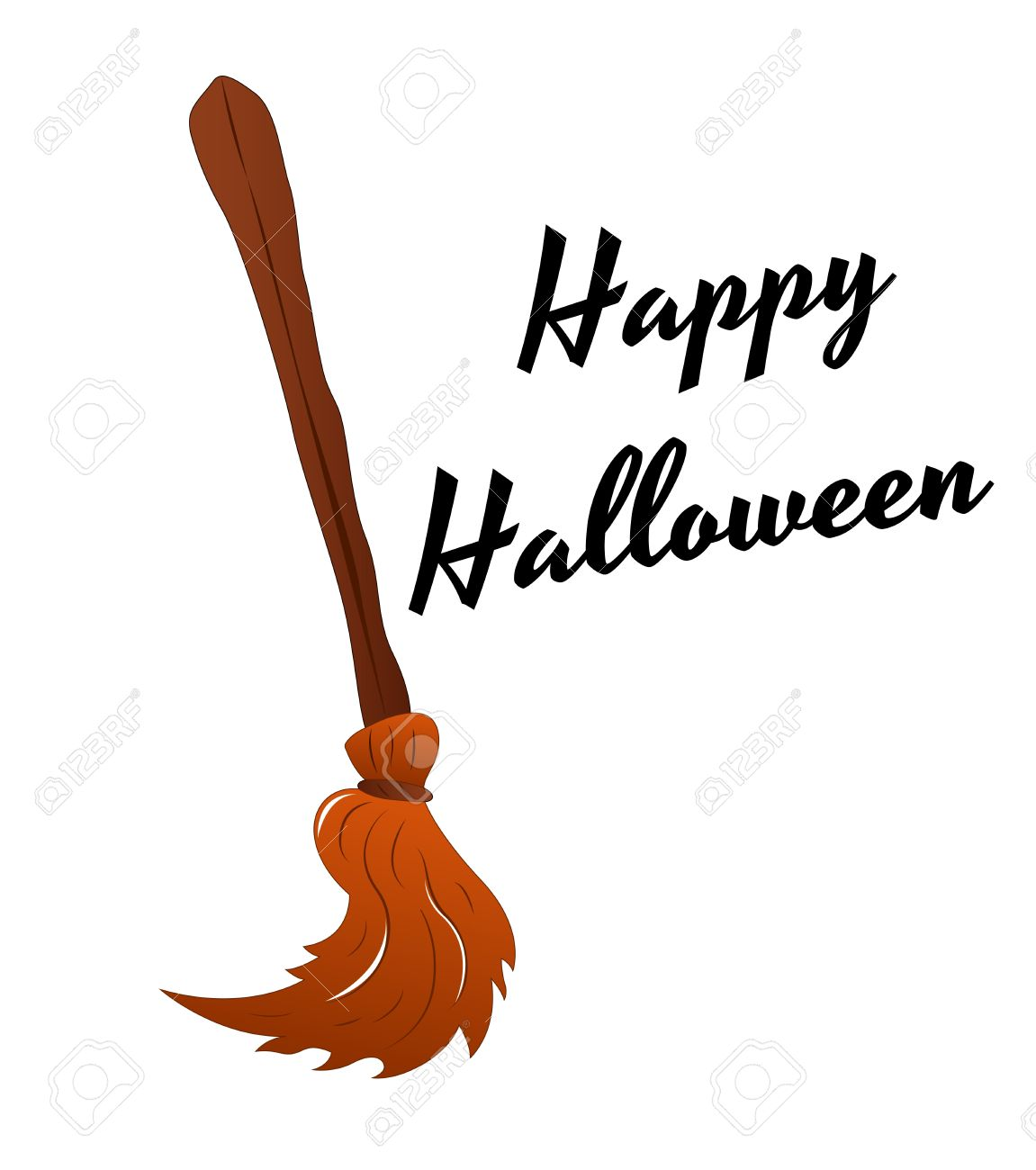vector witch broomstick vector