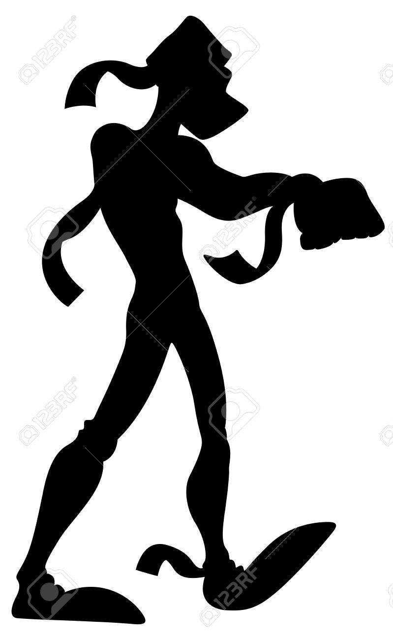 Scary Mummy Silhouette Stock Vector - 13307876