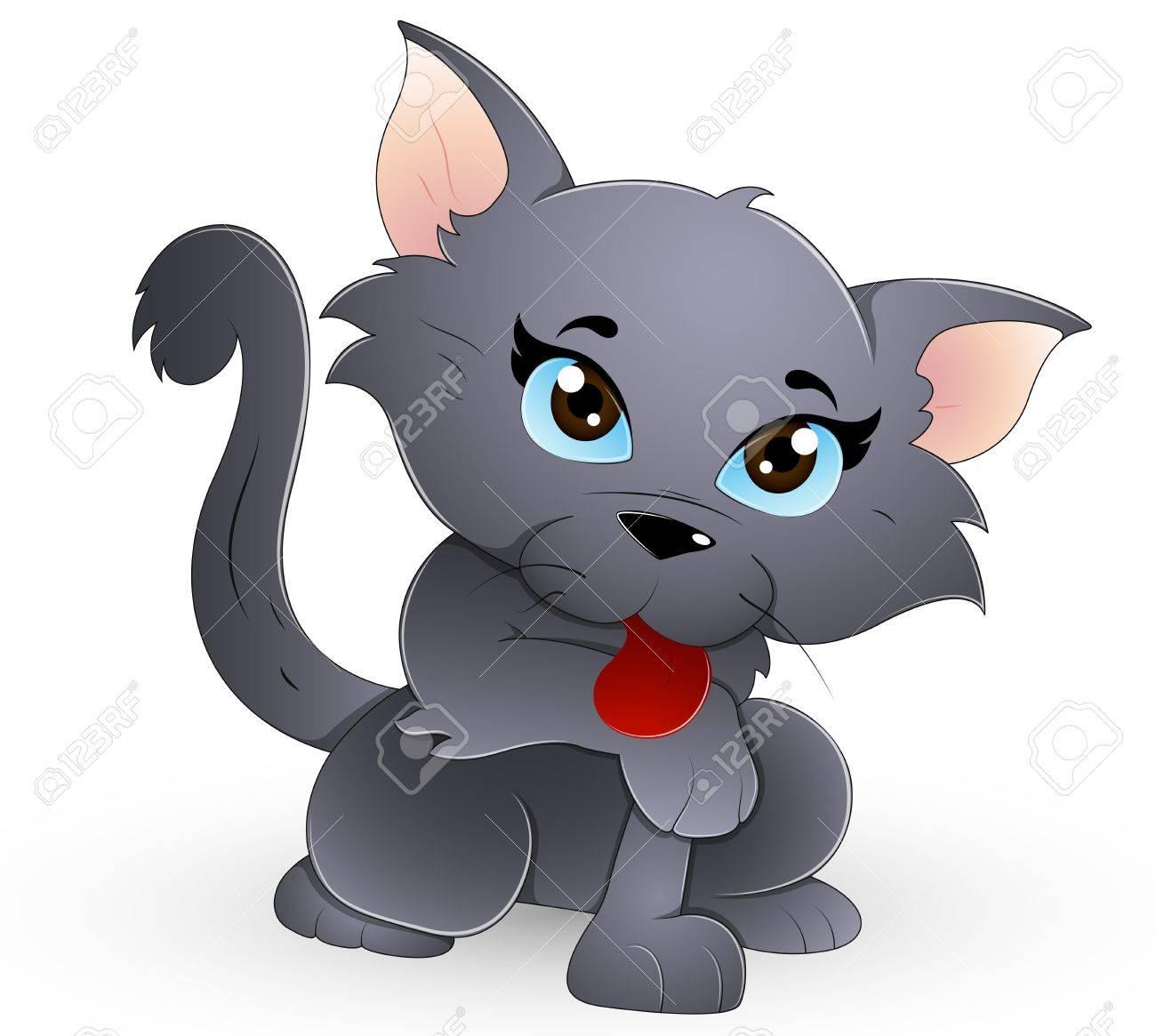 Cute Cat Stock Vector - 13358214