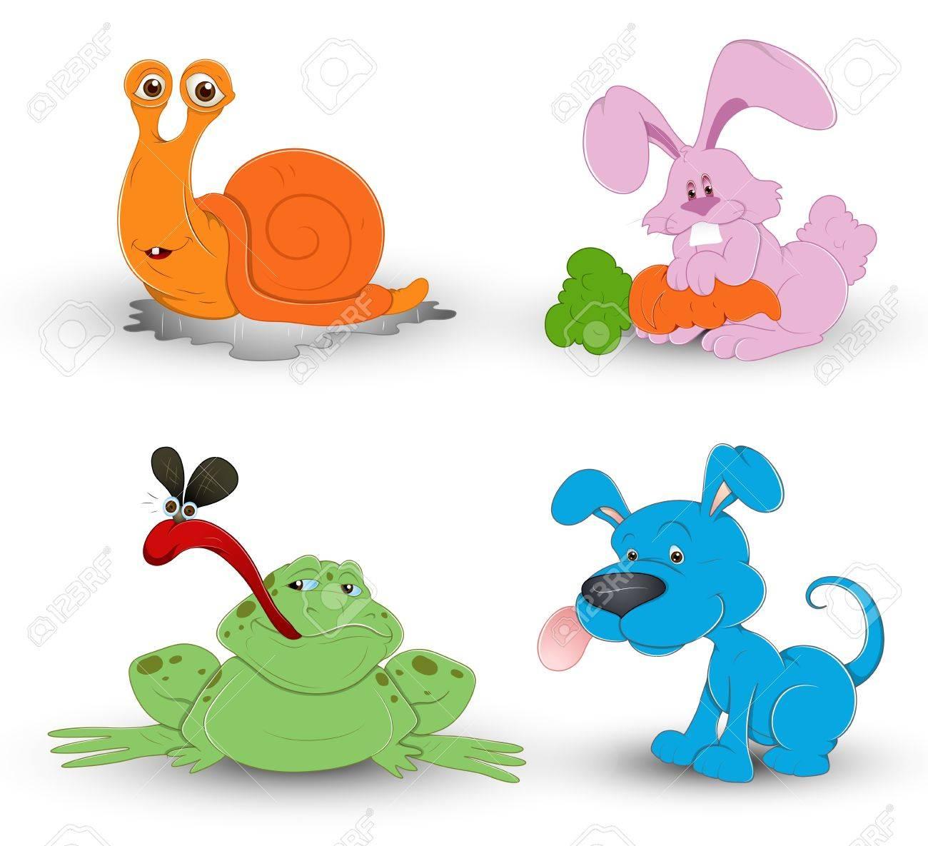 Cute Cartoon Animals Stock Vector - 13358215