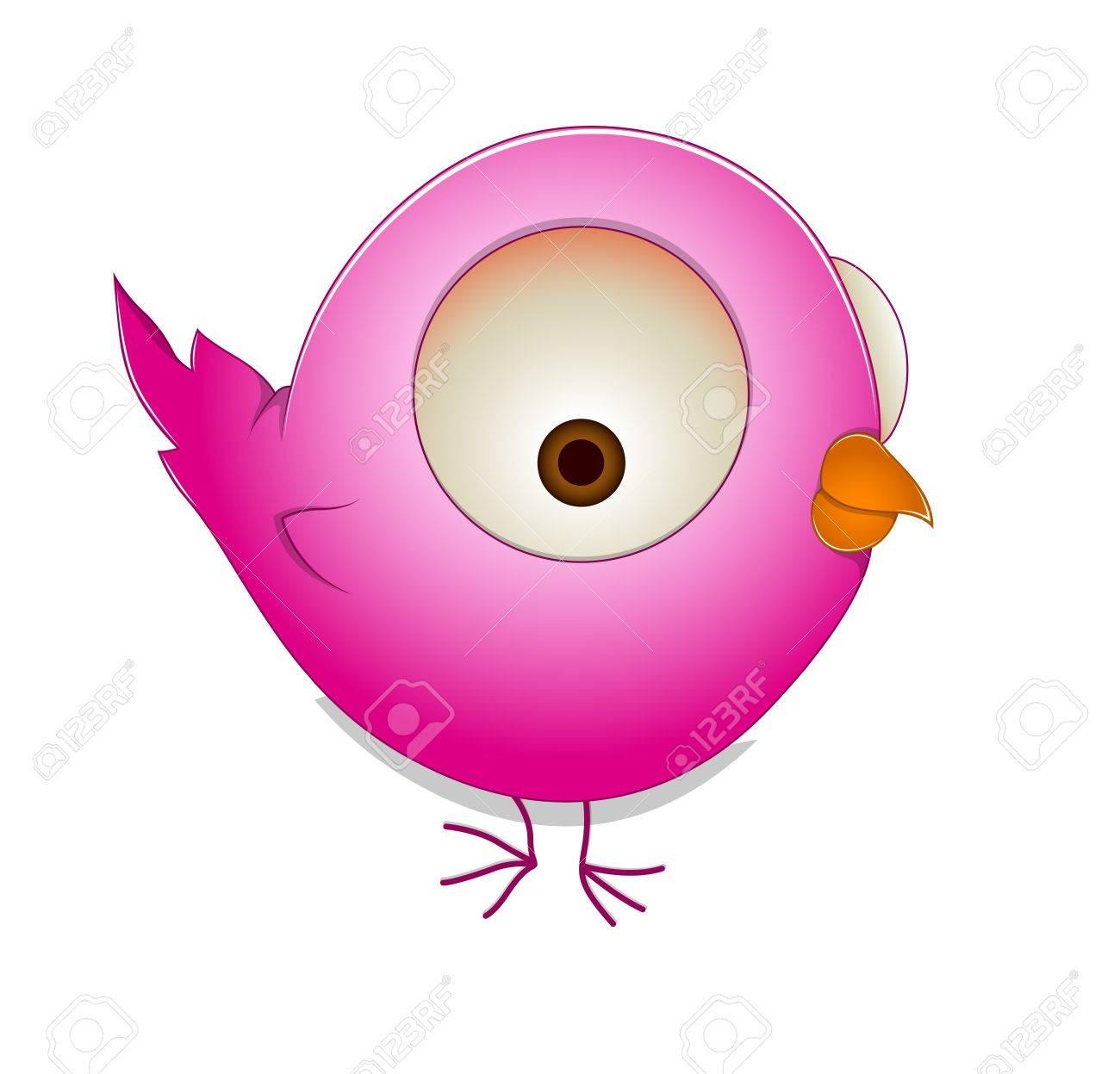 Cute Cartoon Bird Stock Vector - 13357967