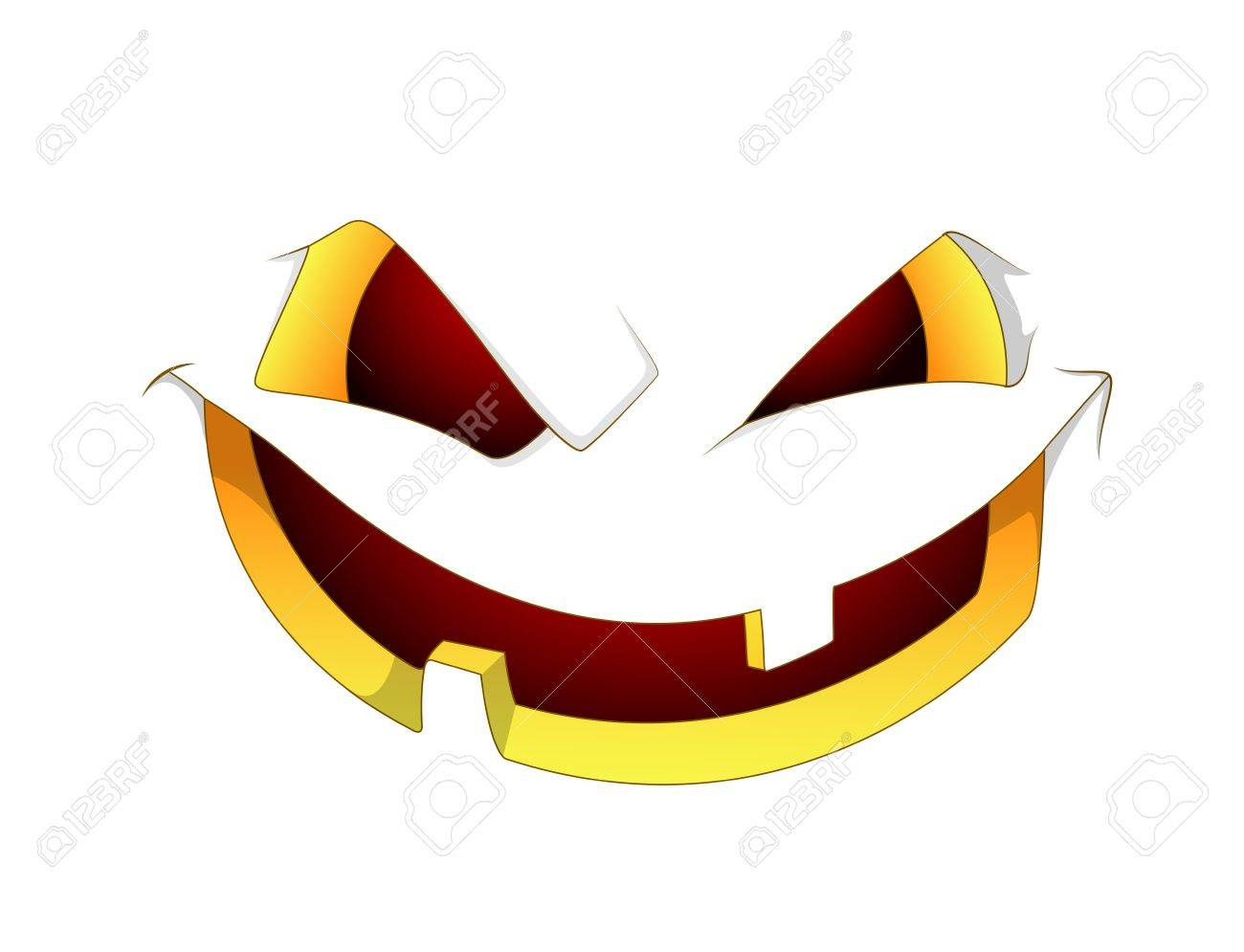 Scary Halloween Pumpkin Face Royalty Free Cliparts, Vectors, And ...