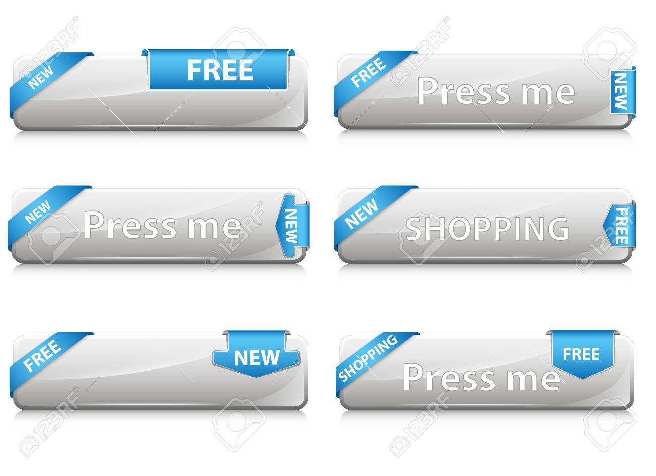 Web Buttons Vectors Stock Vector - 15143967