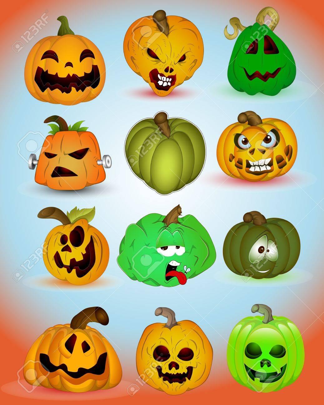 Halloween Vectors helloween icons images Spooky Halloween Vectors Stock Vector 15144069