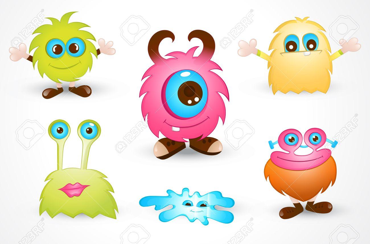 Cute Cartoon Monster Stock Vector - 15171743