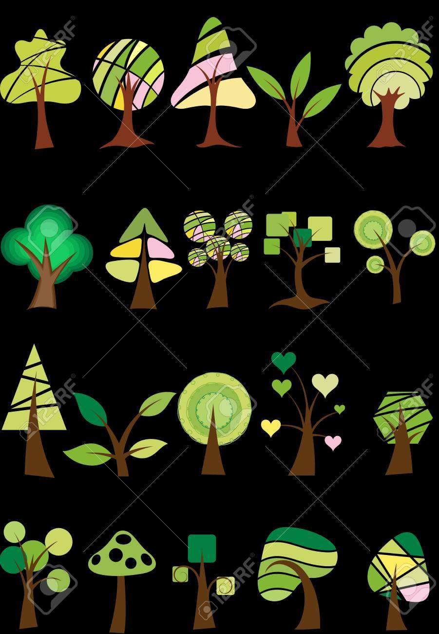 Trees Vectors Stock Vector - 15229842