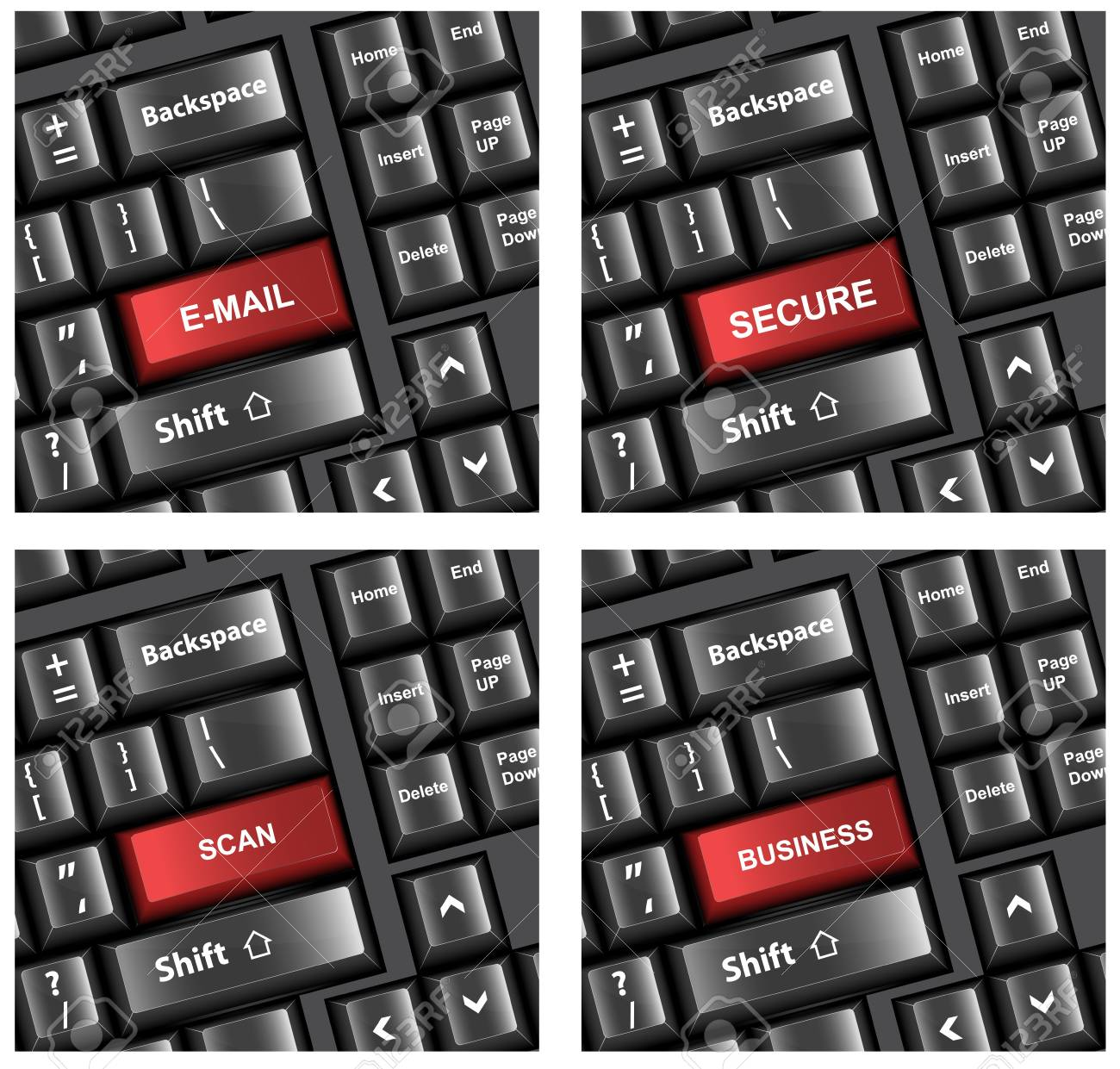 Keyboard Buttons Text Concepts Vectors Stock Vector - 15229846