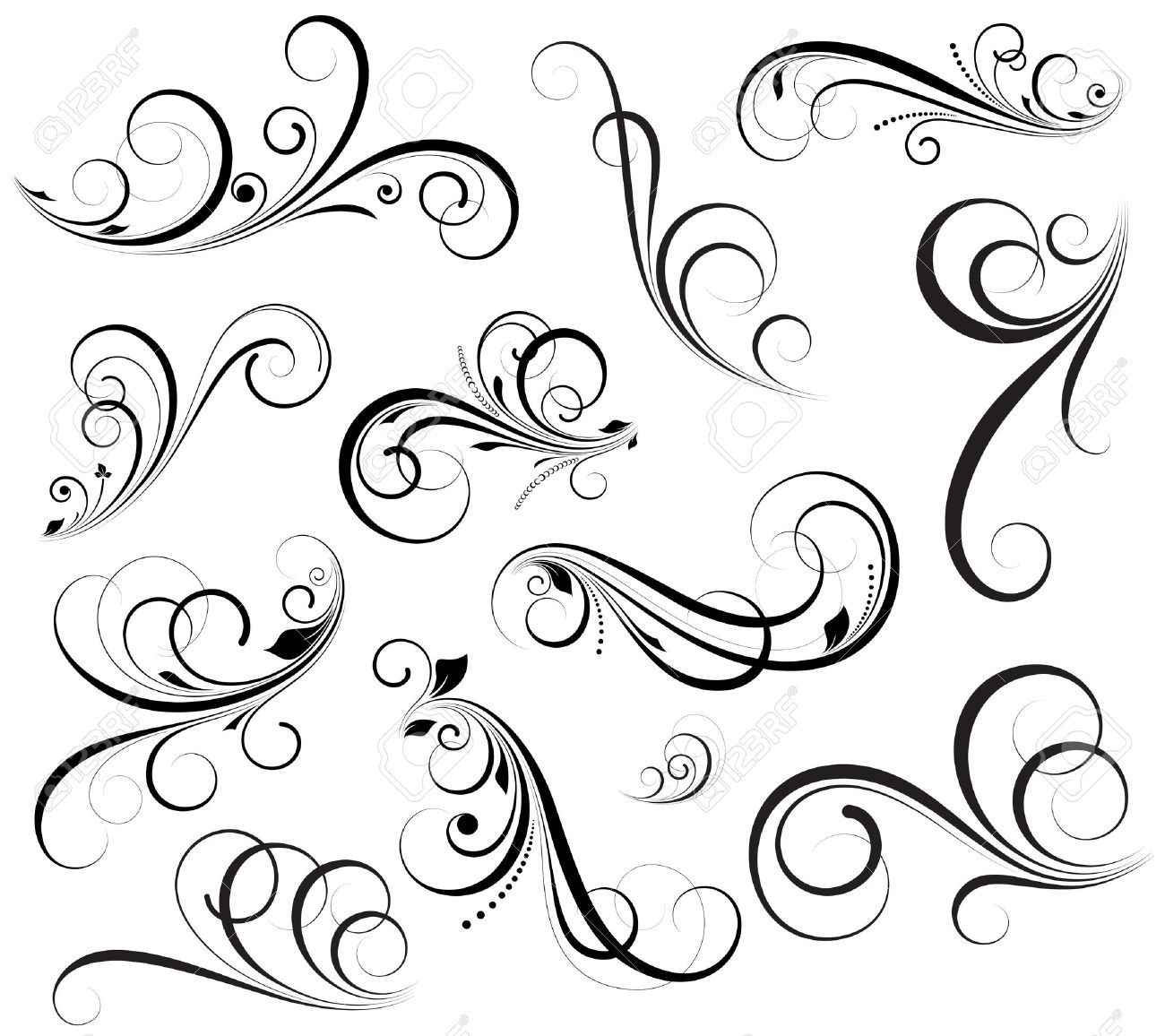 Swirls Vectors Stock Vector - 15244421