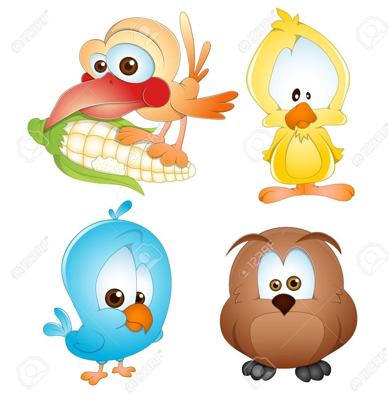 Cute Birds Vectors Stock Vector - 15244687
