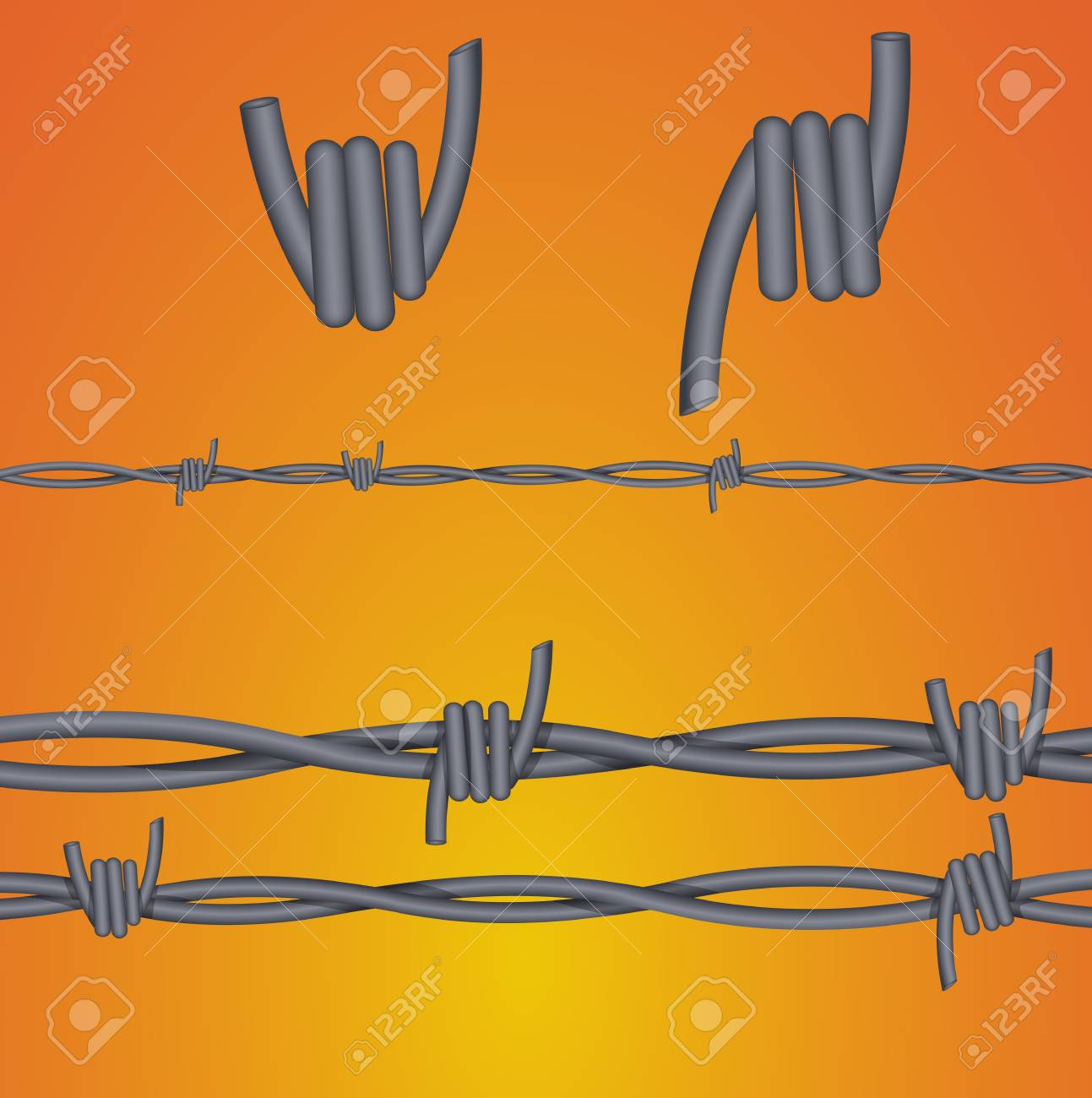 Fork Wire Vector Illustrations Stock Vector - 15245006