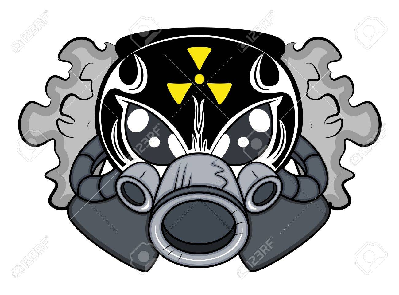 Toxic Mascot Tattoo Vector Stock Vector - 15759264