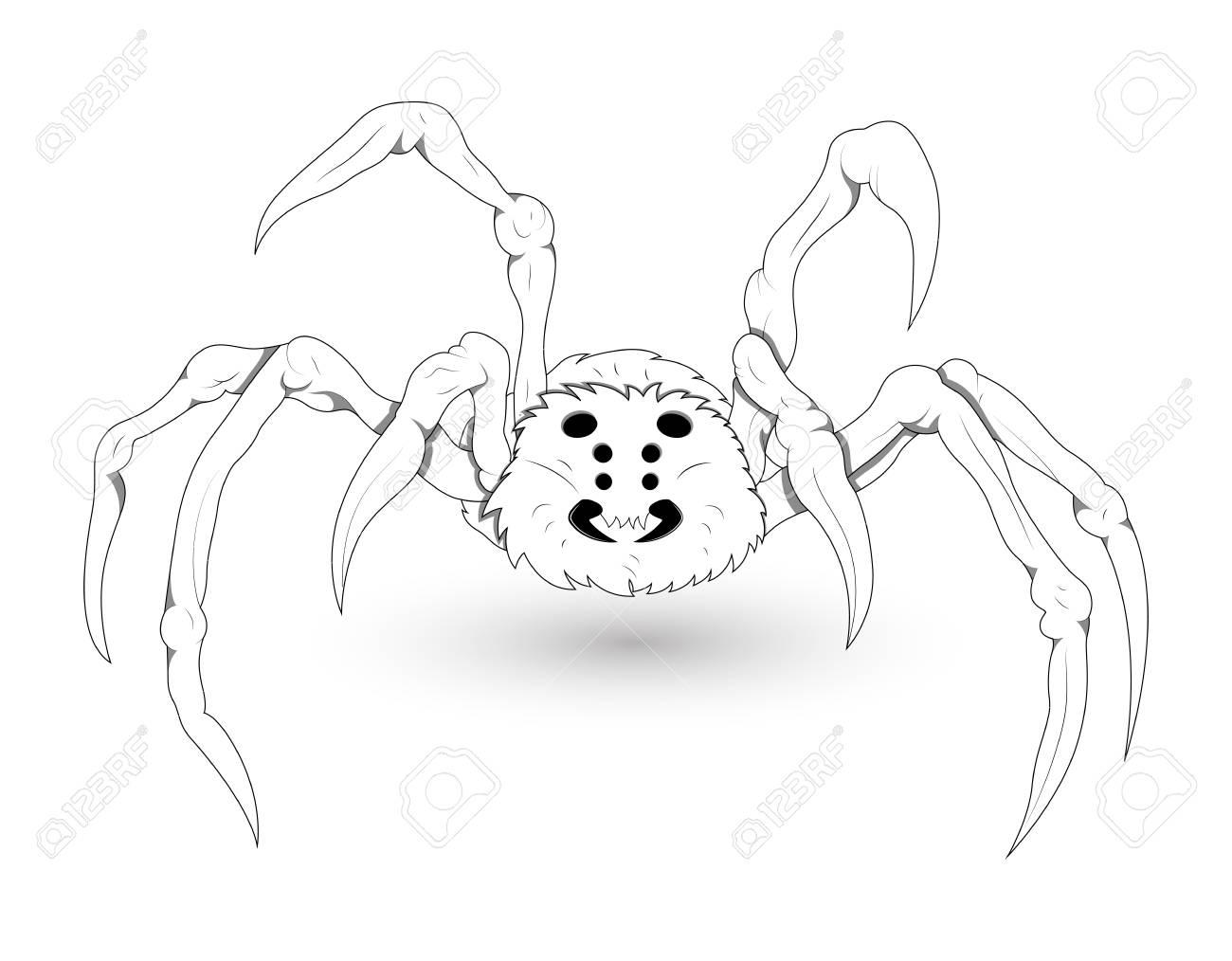 White Spider Illustration Stock Vector - 15759427
