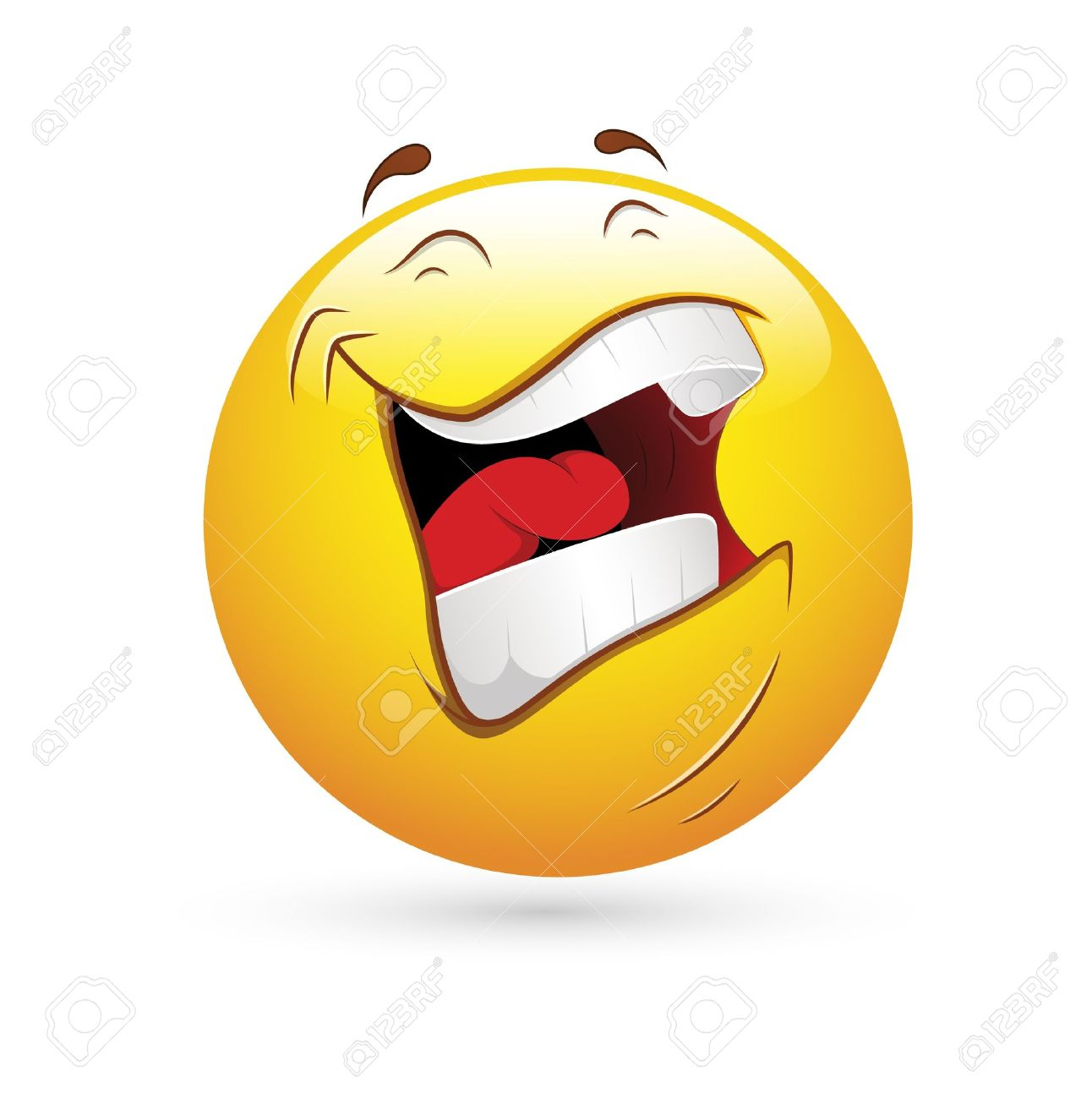 Smiley Emoticons Face Vector - Laughing - 15808664