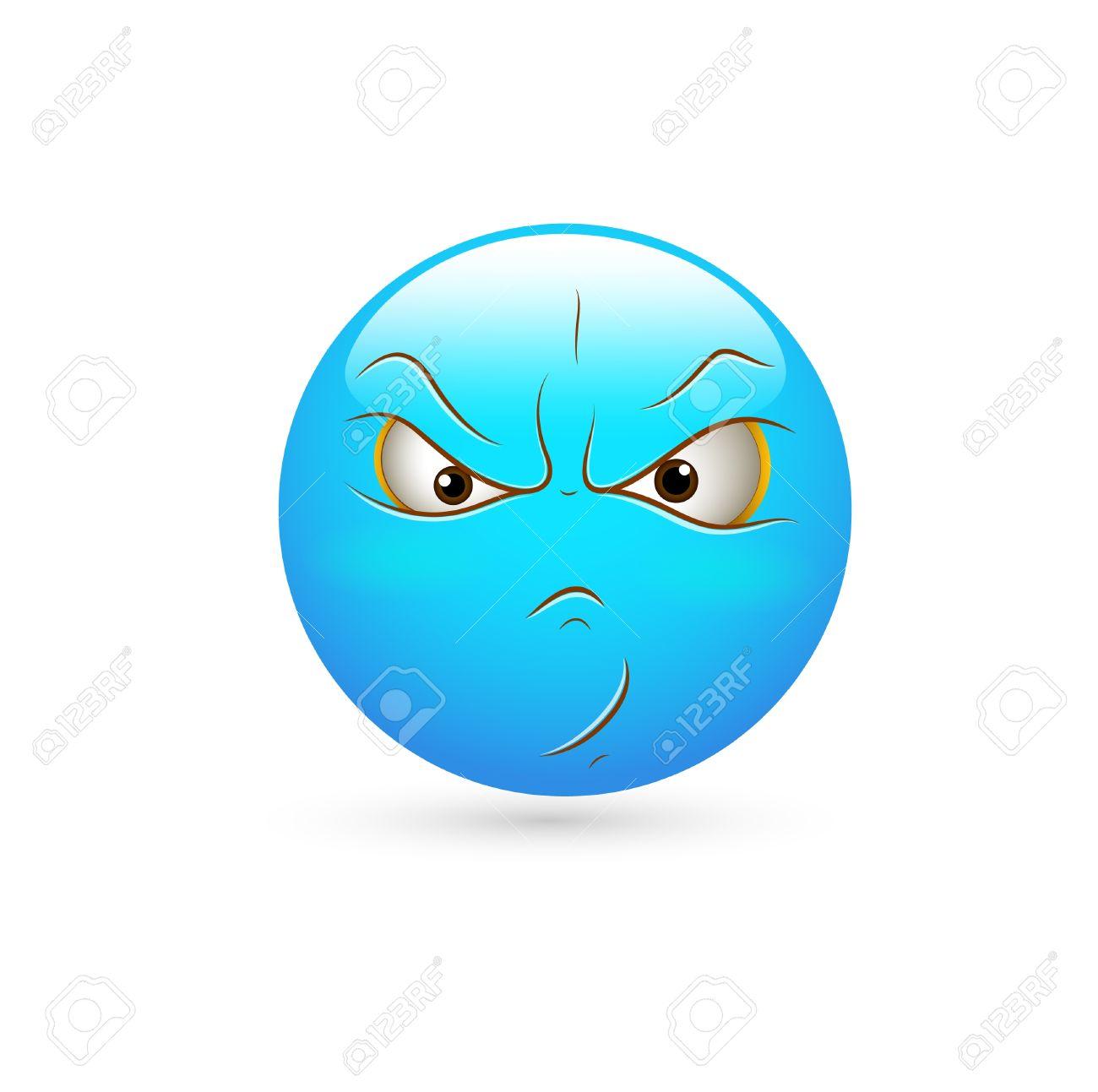 Smiley Emoticons Face Vector - Get Offense Stock Vector - 15808679