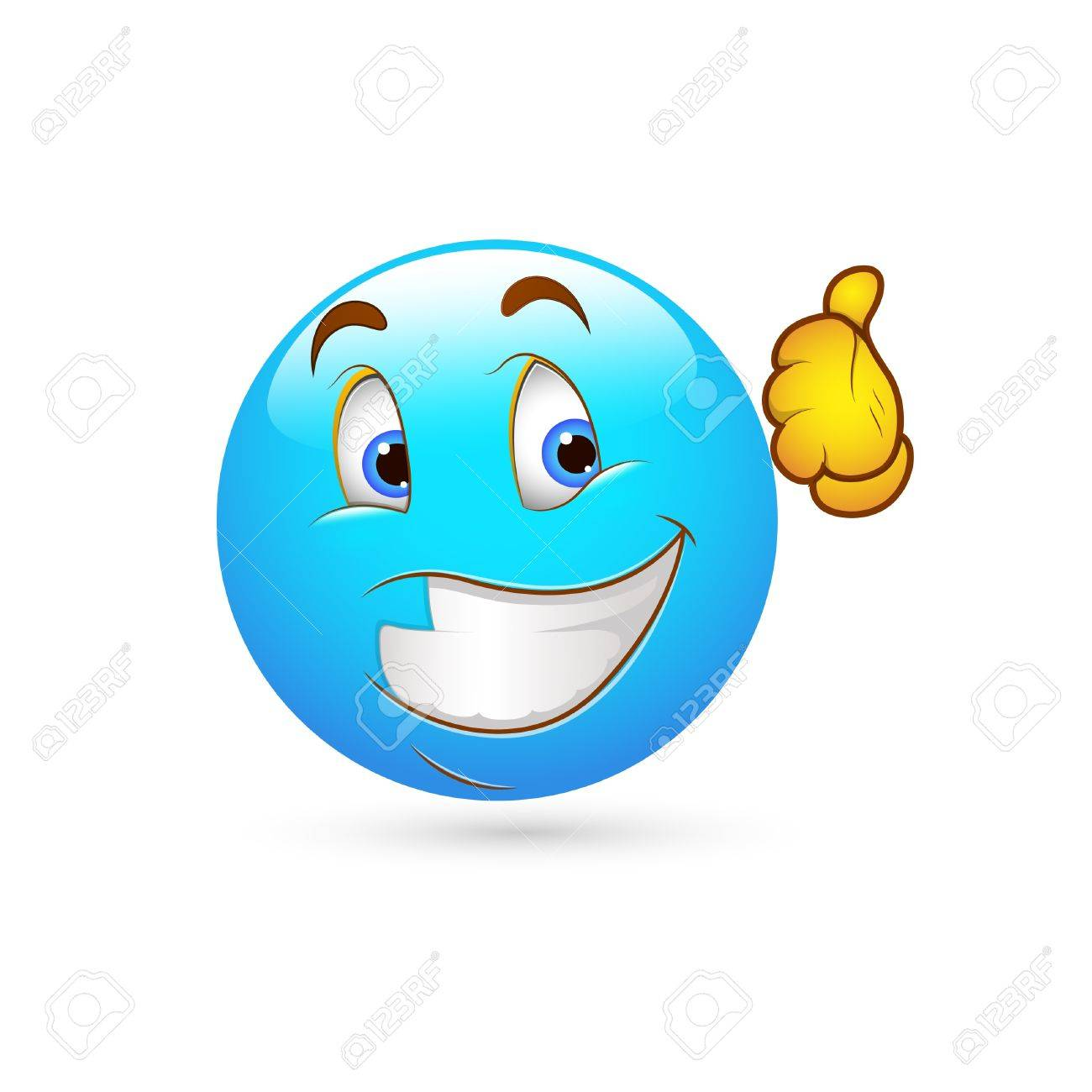 Smiley Emoticons Face Vector - Thumbs up Stock Vector - 15808705