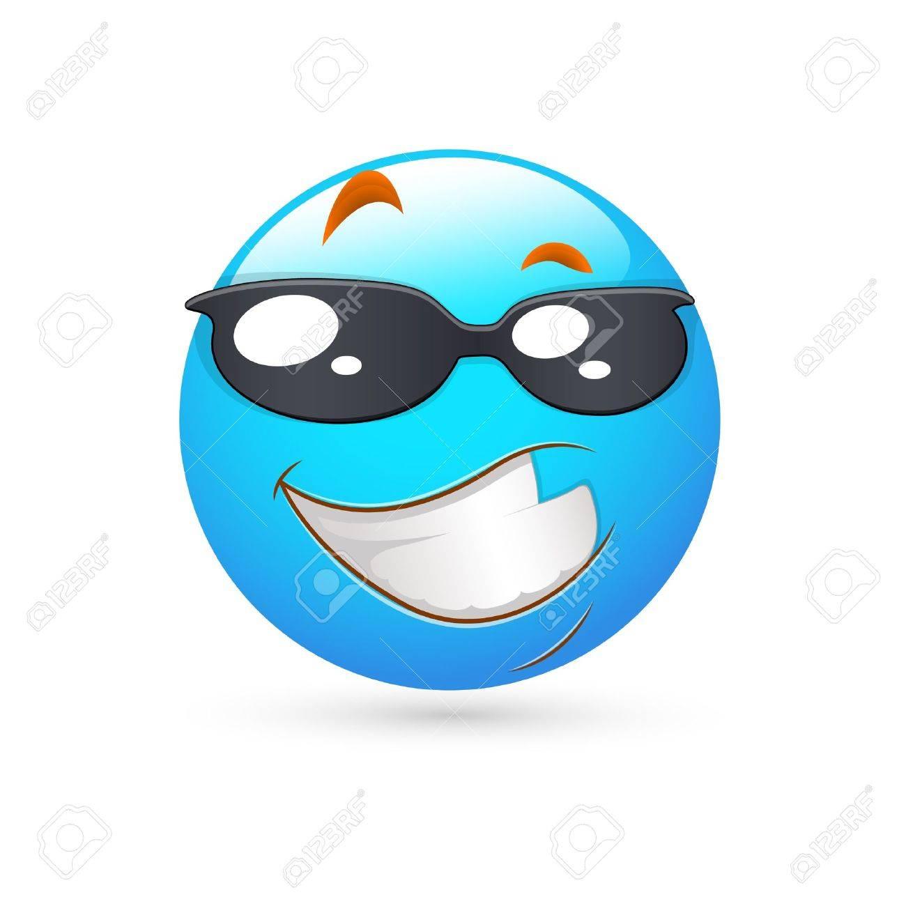 Smiley Emoticons Face Vector - Smart Expression Stock Vector - 15808696