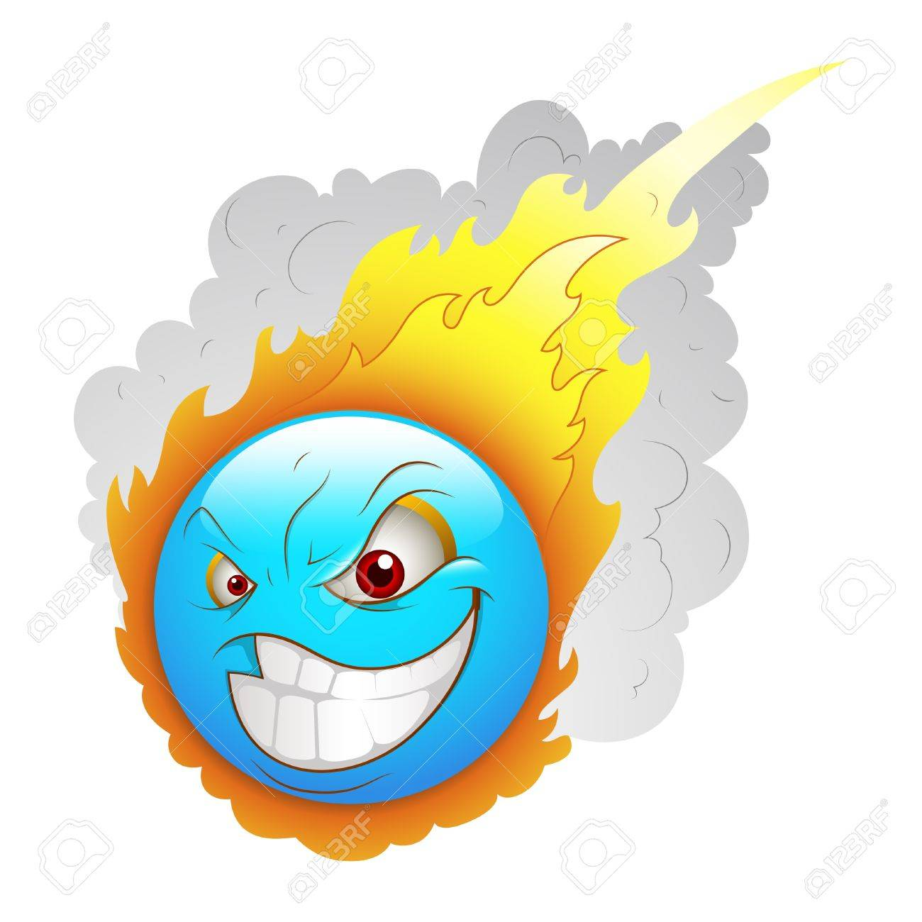Smiley Emoticons Face Asteroid Stock Vector - 15808652
