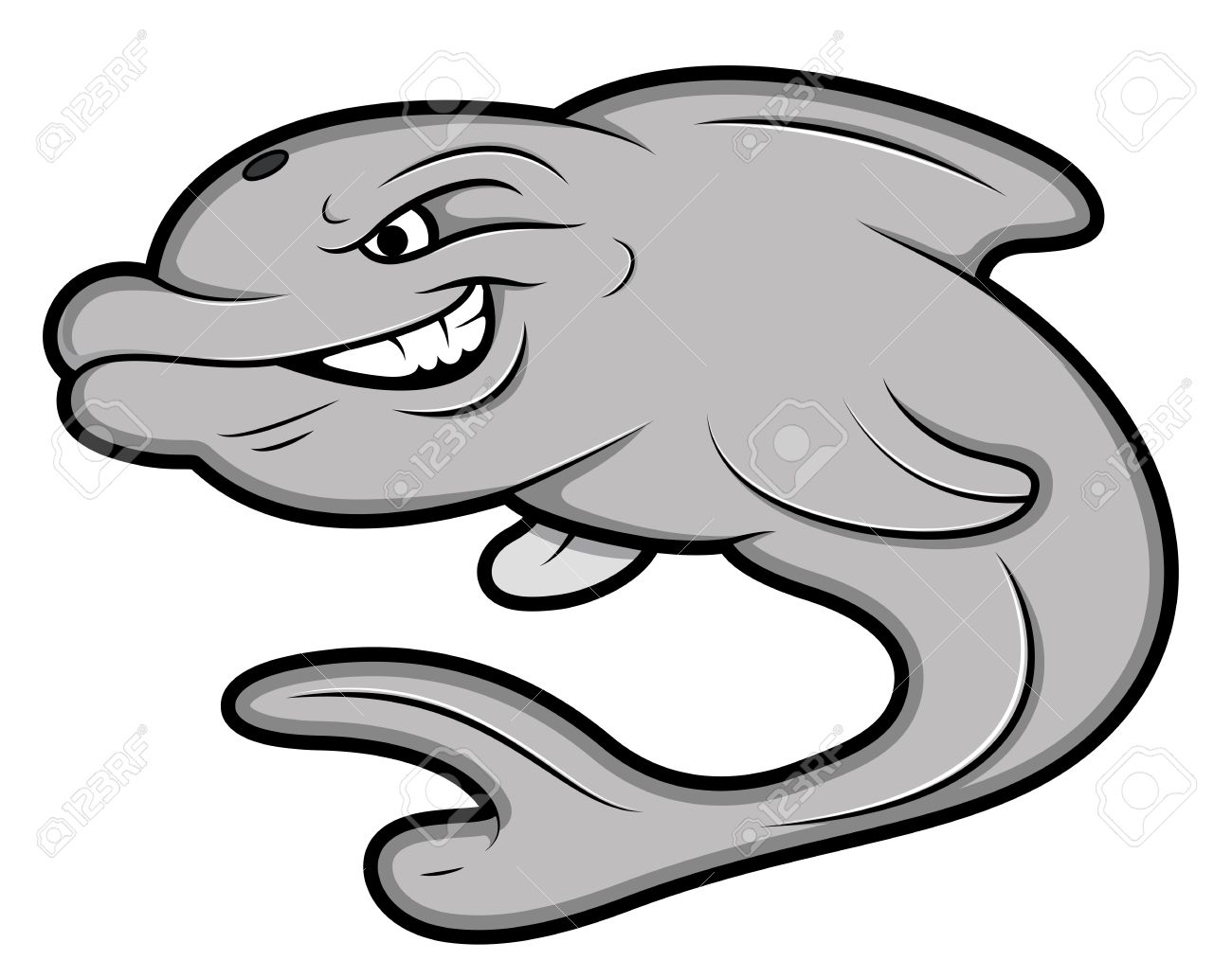 Dolphin logo mascot head with a title dolphins Clip Art   k29676559    Fotosearch