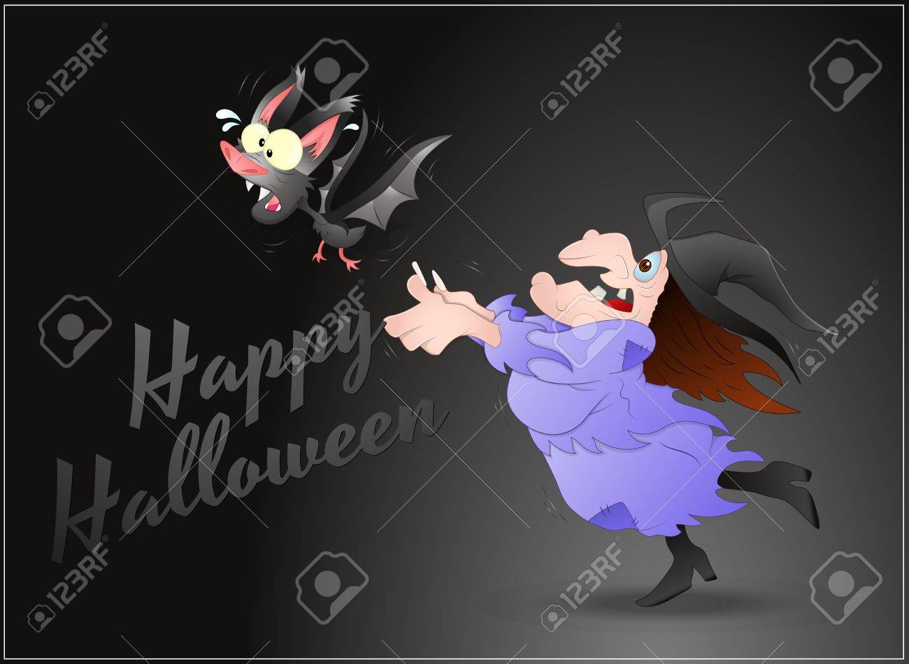 Scared Halloween Witch Stock Vector - 16104808
