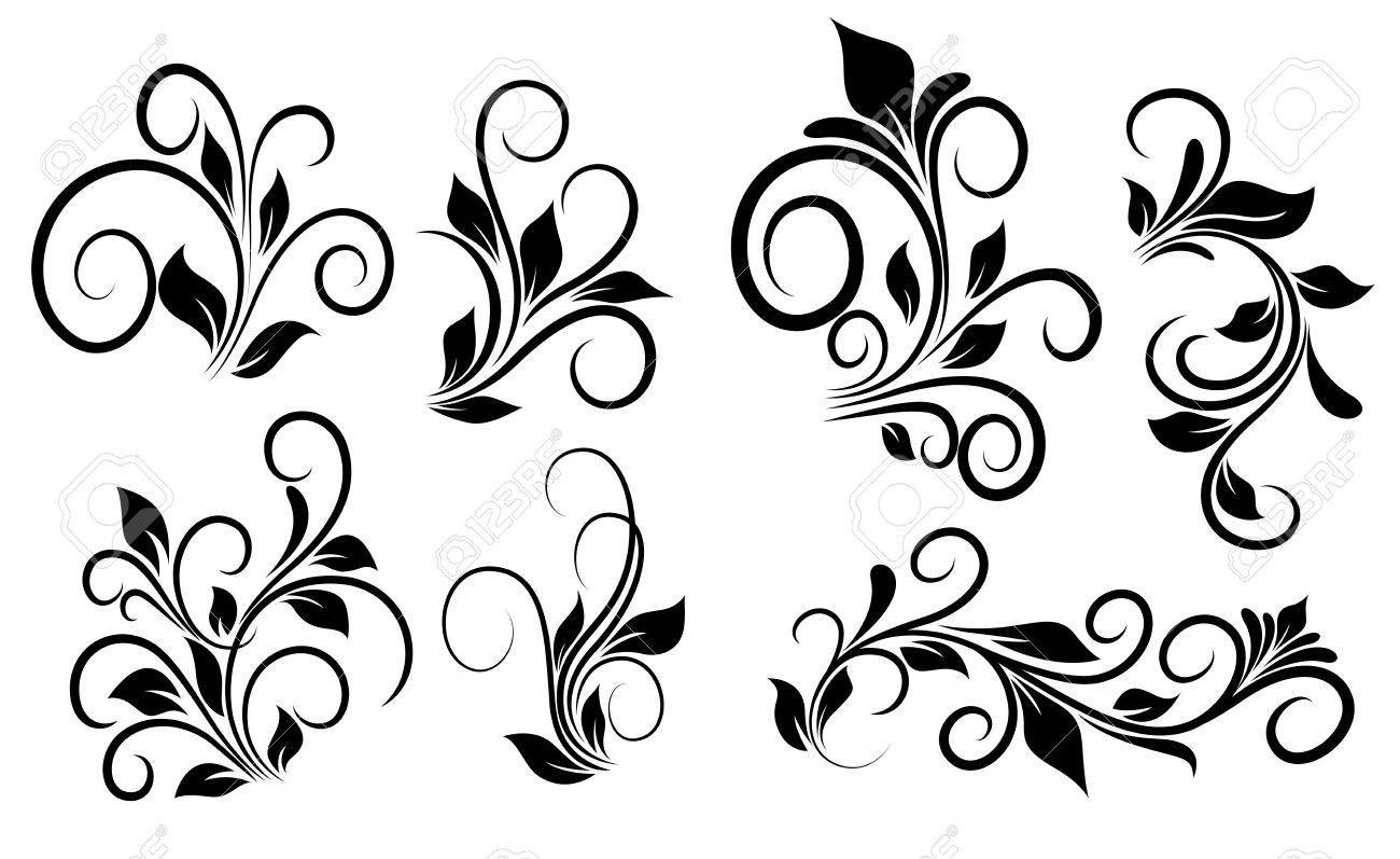 flourish swirls vector elements royalty free cliparts vectors and rh 123rf com swirls vector illustration swirls vector free