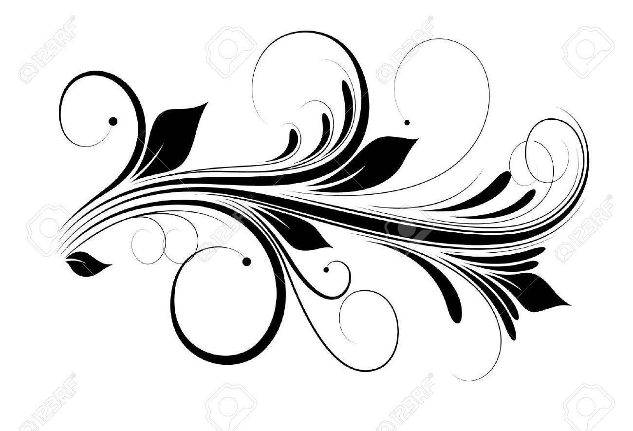 Swirly Vector Design Element - 16104415