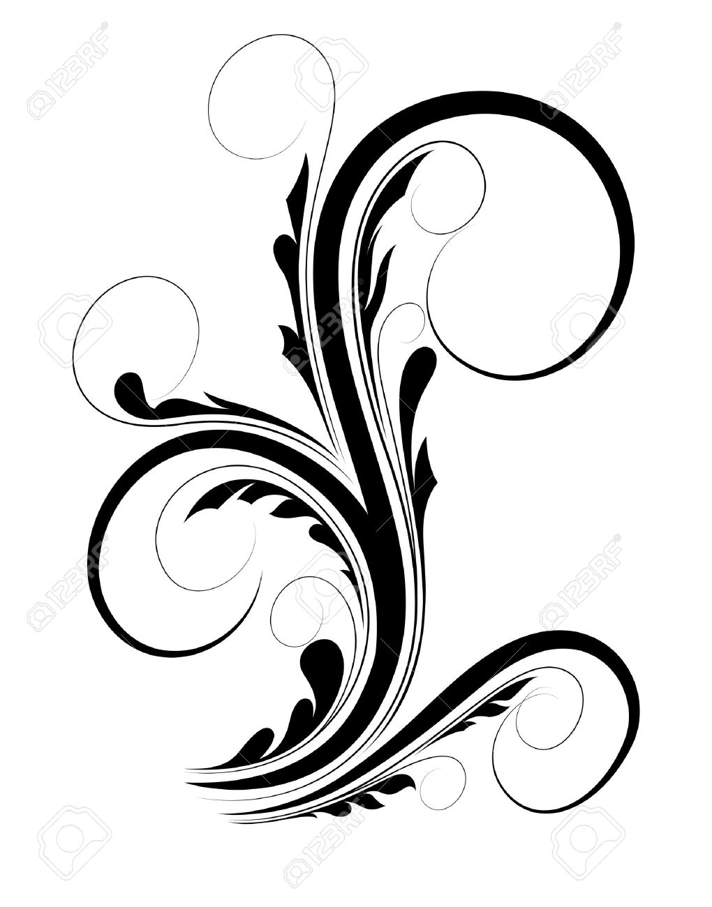 swirl floral shape royalty free cliparts vectors and stock rh 123rf com free vector swirls and snowflakes free vector swirl download