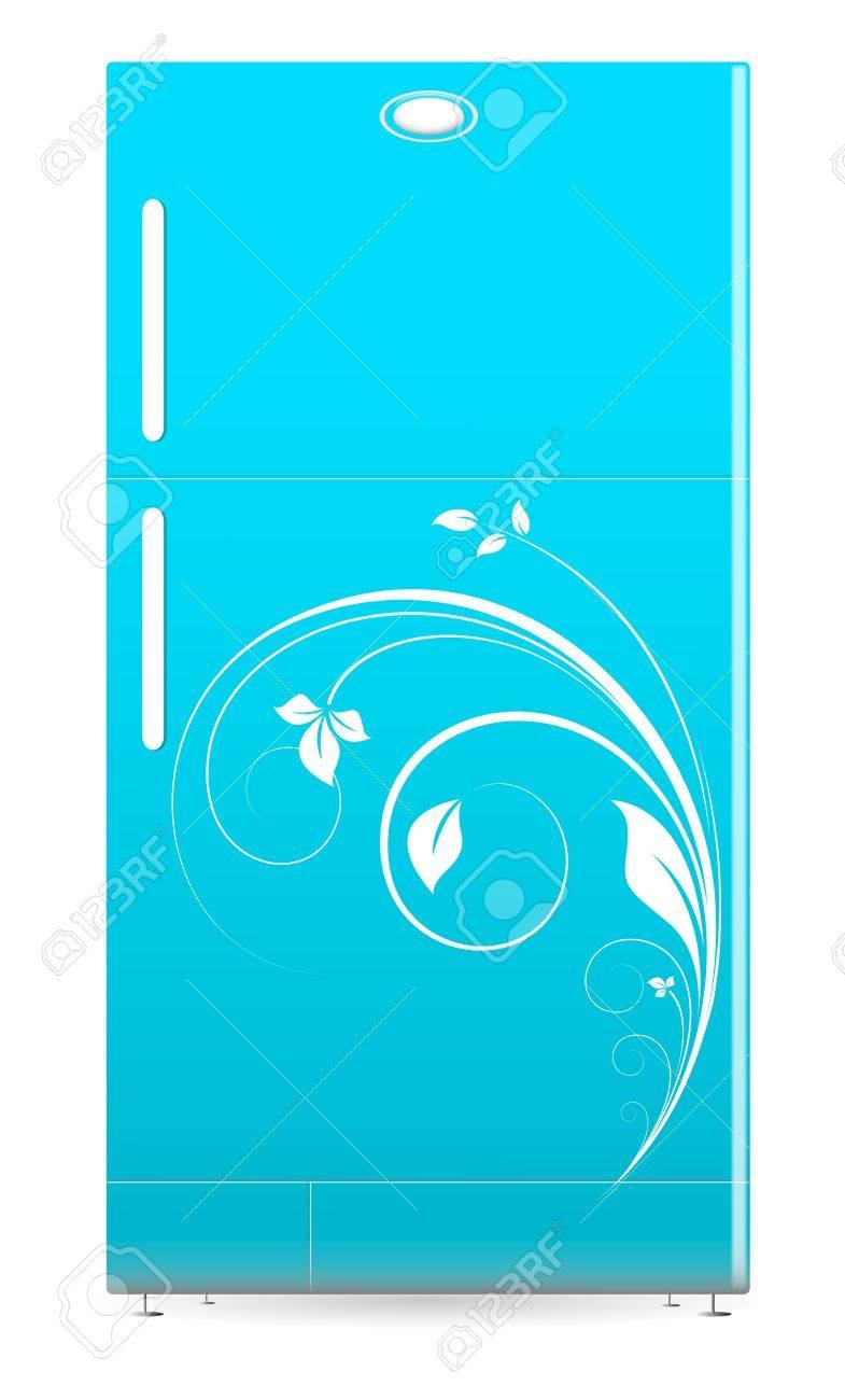 Refrigerator - Retro Fridge Vector Illustartion Stock Vector - 16104600