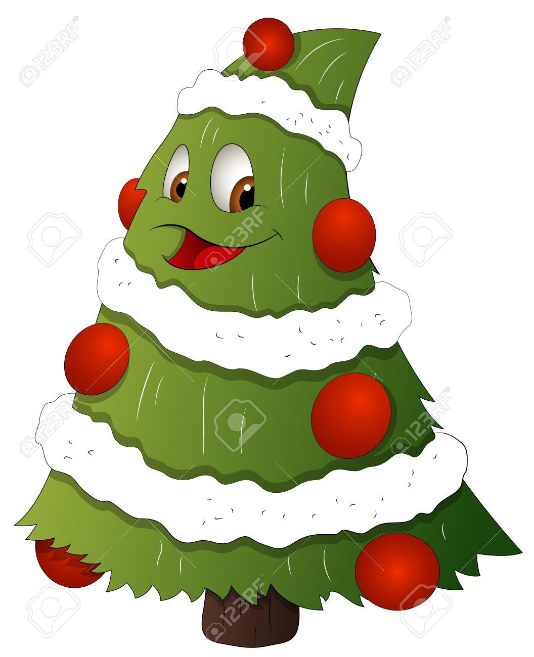 personaje de dibujos animados rbol de navidad ilustracin vectorial foto de archivo