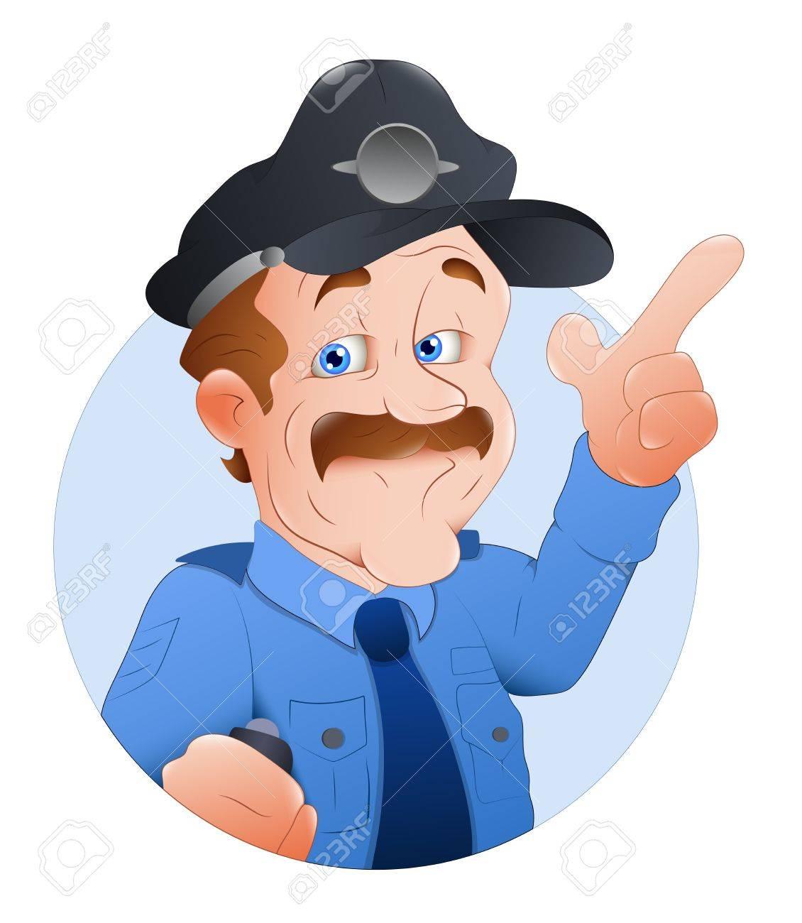 Traffic Police Officer  Illustration Stock Vector - 16775666