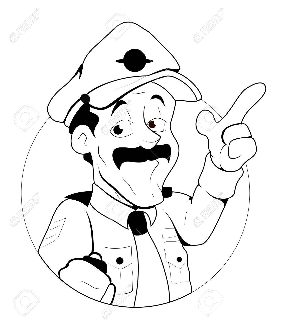 Traffic Police Officer Illustration Royalty Free Cliparts, Vectors ...