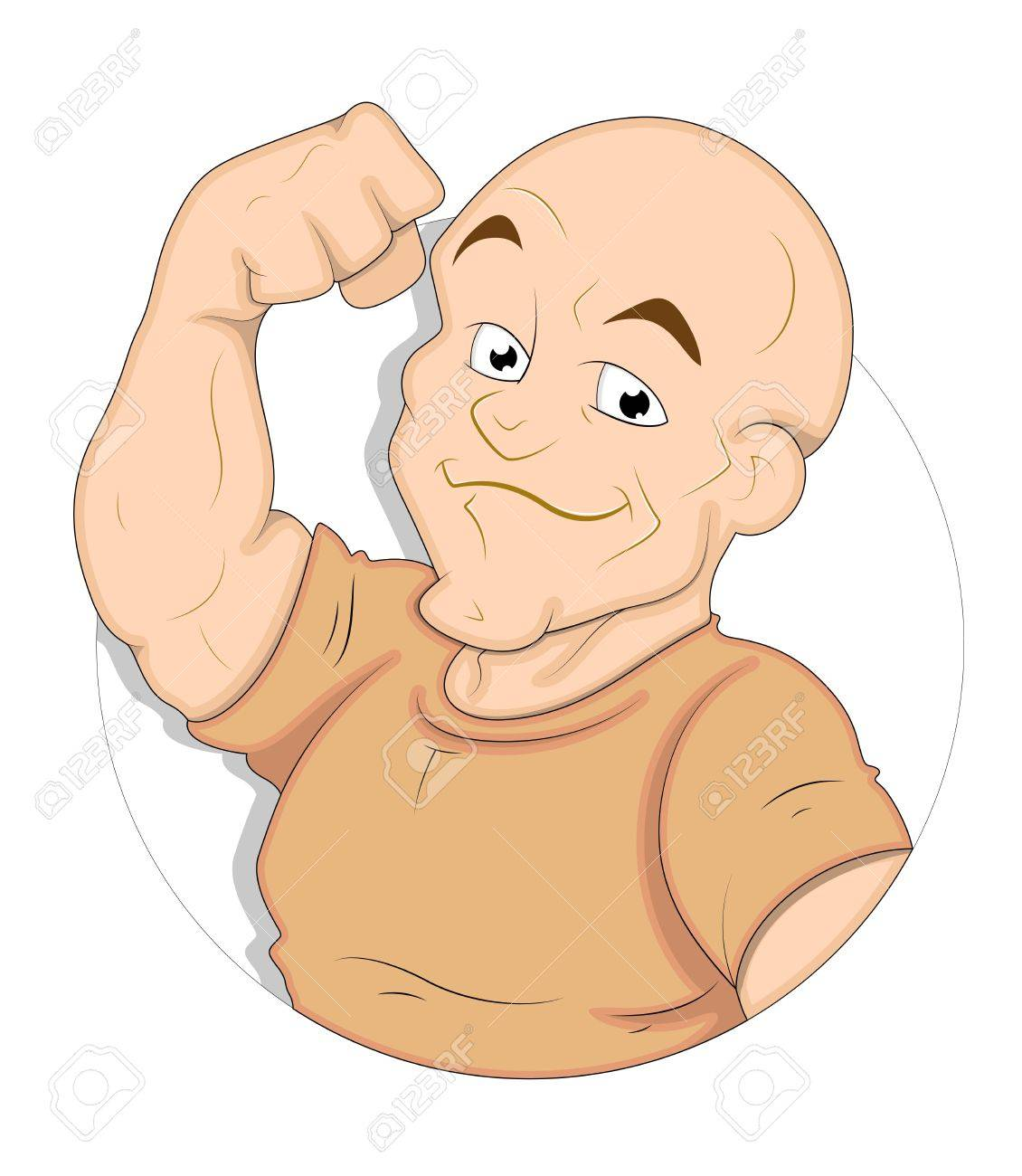 Cartoon Bodybuilder Stock Vector - 16775453