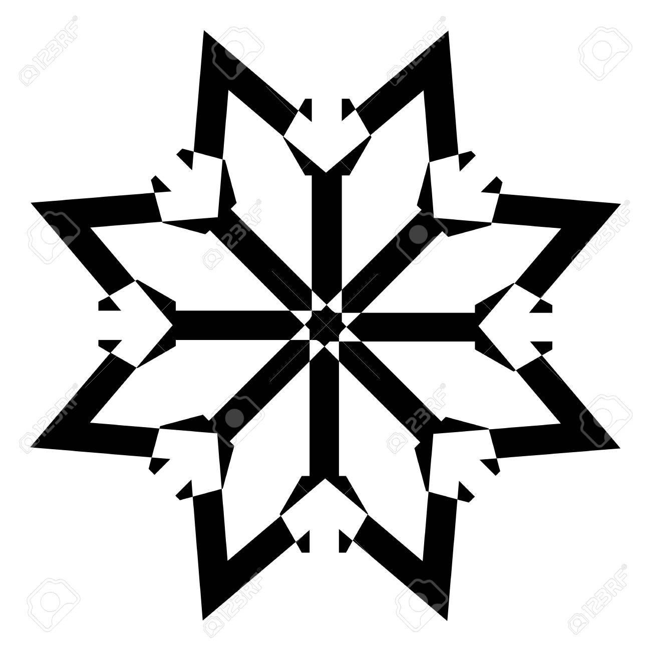 Snowflake Star Stock Vector - 16831741