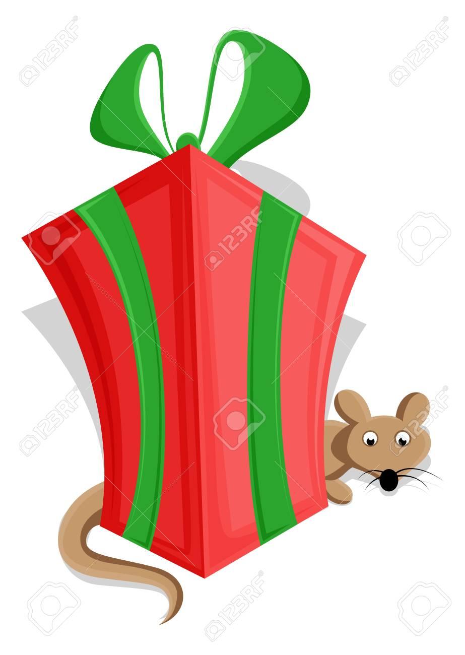 Cute Christmas Gift Box Royalty Free Cliparts Vectors And Stock