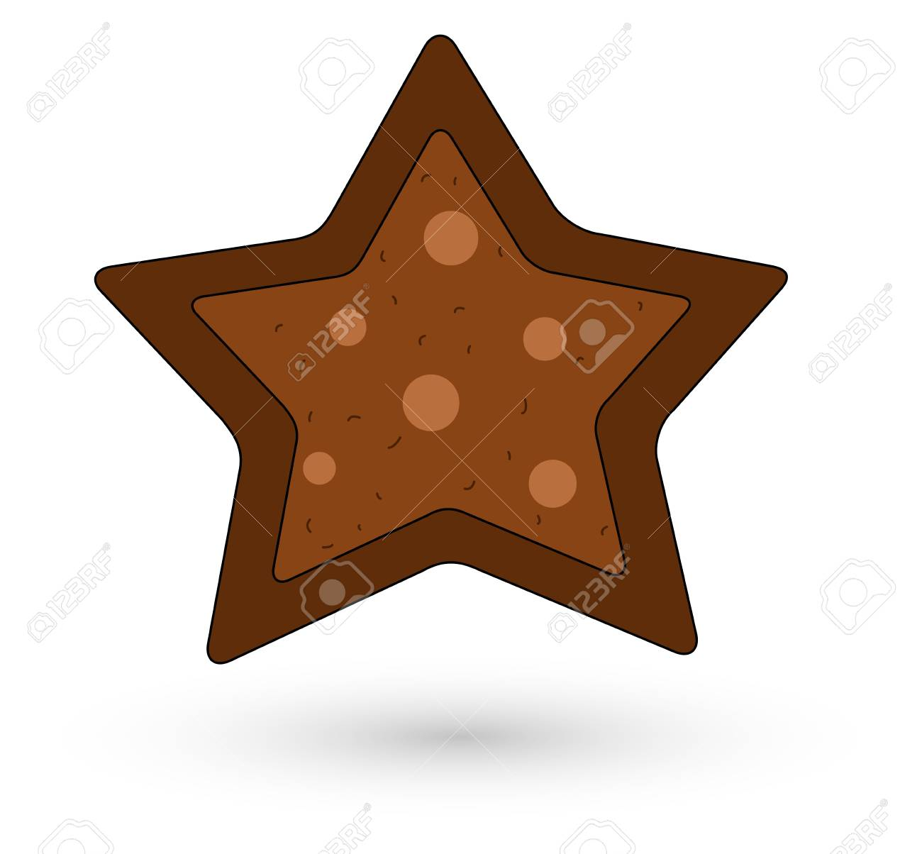 Cookie Style Christmas Star Stock Vector - 16832125
