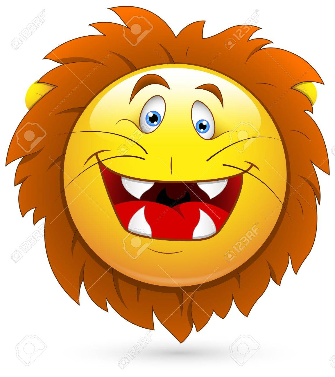 Smiley Vector Illustration - Lion Head Stock Vector - 18243345