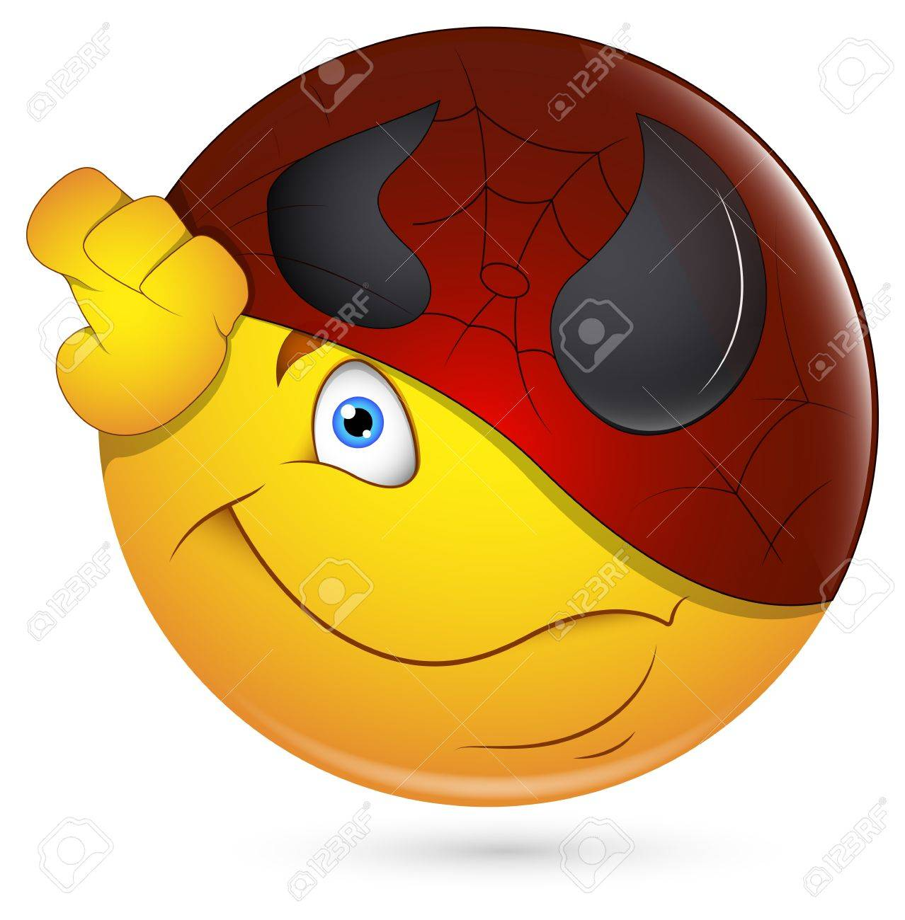 Smiley Vector Illustration - Being Super Hero Face Stock Vector - 18243429