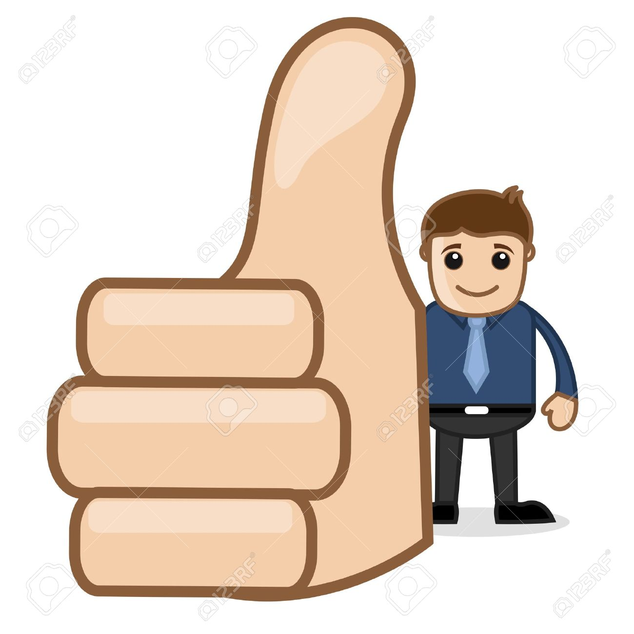 Office and Business Cartoon Character Vector  Illustration - Showing Thumbs Up Stock Illustration - 19284925